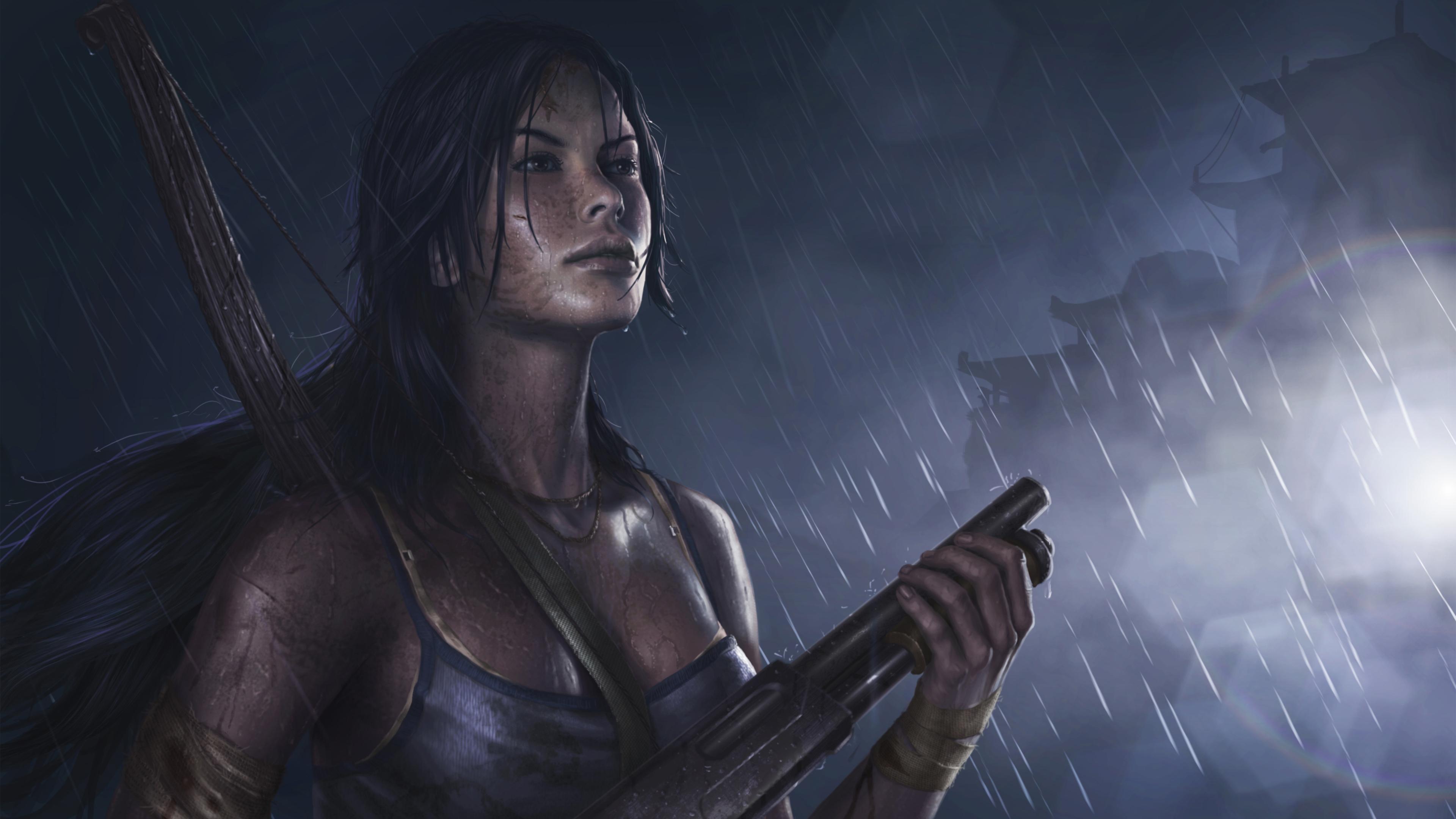 3840x2160 Lara Croft Tomb Raider Artwork 4k Hd 4k: Tomb Raider Reborn 5k Art Tomb Raider Wallpapers, Lara