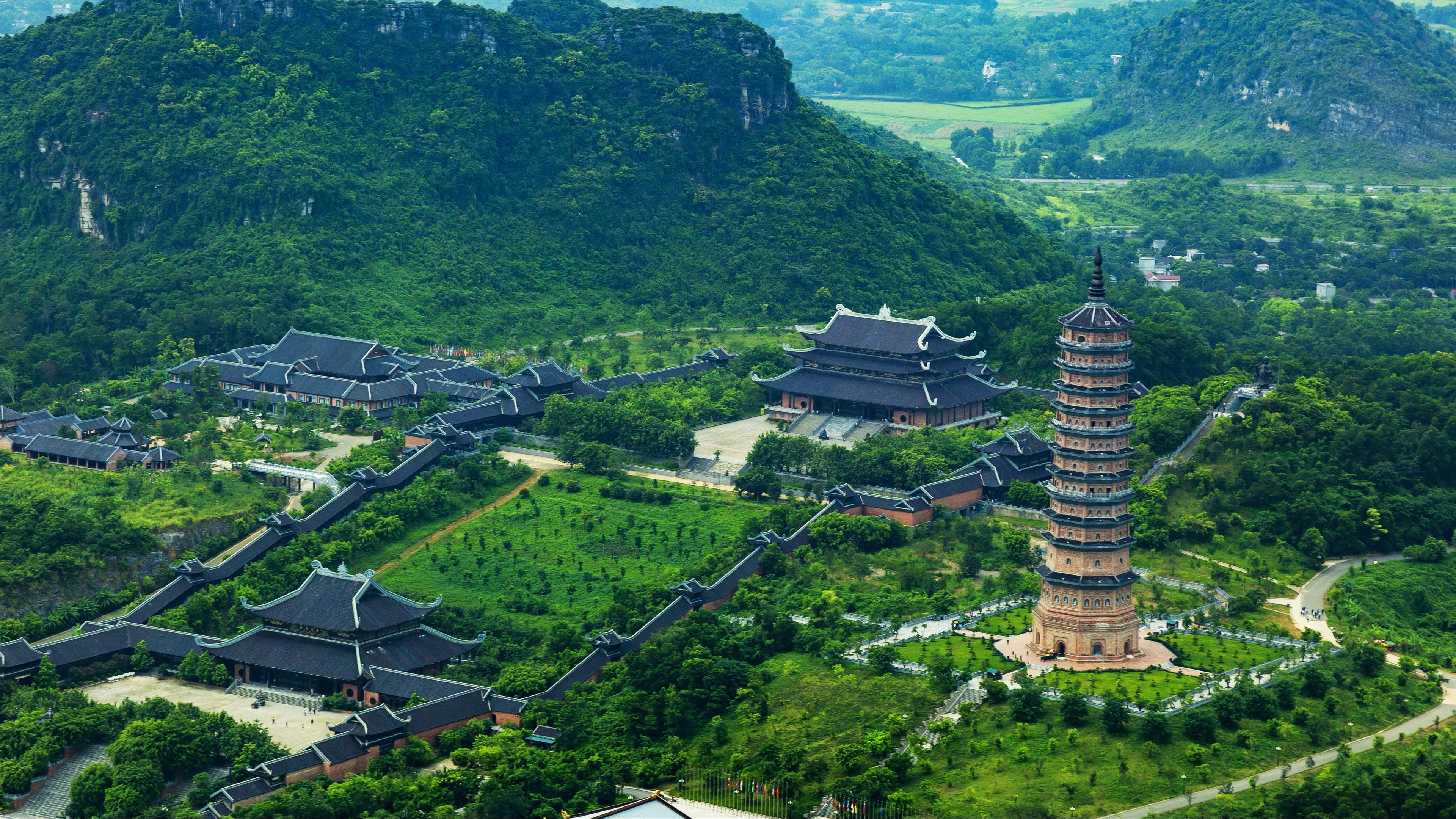 trang an bai dinh landscape top view 4k 1538066582 - trang an, bai dinh, landscape, top view 4k - trang an, Landscape, bai dinh