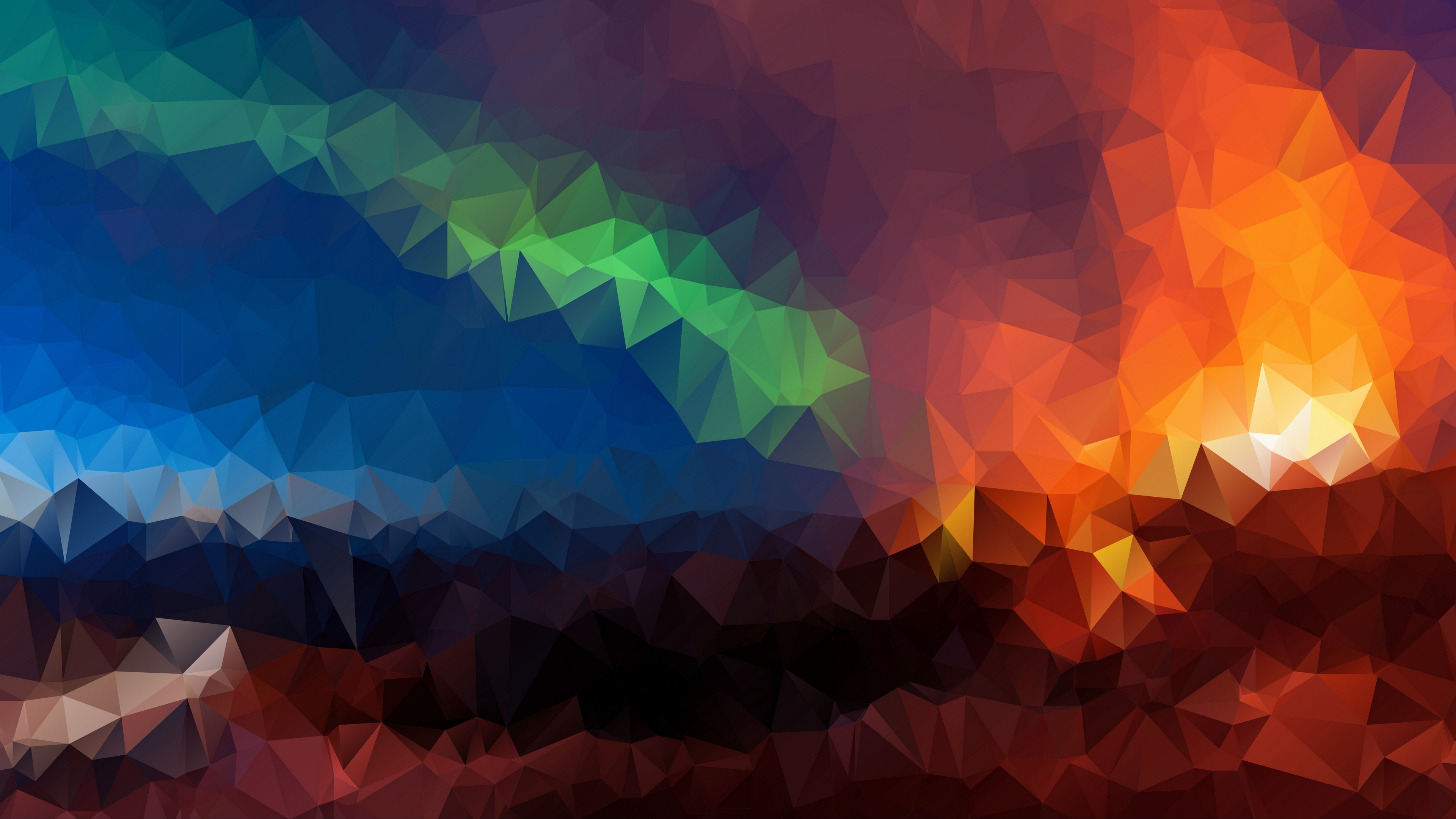 triangles geometric mosaic multicolored 4k 1536097800 - triangles, geometric, mosaic, multicolored 4k - Triangles, Mosaic, Geometric