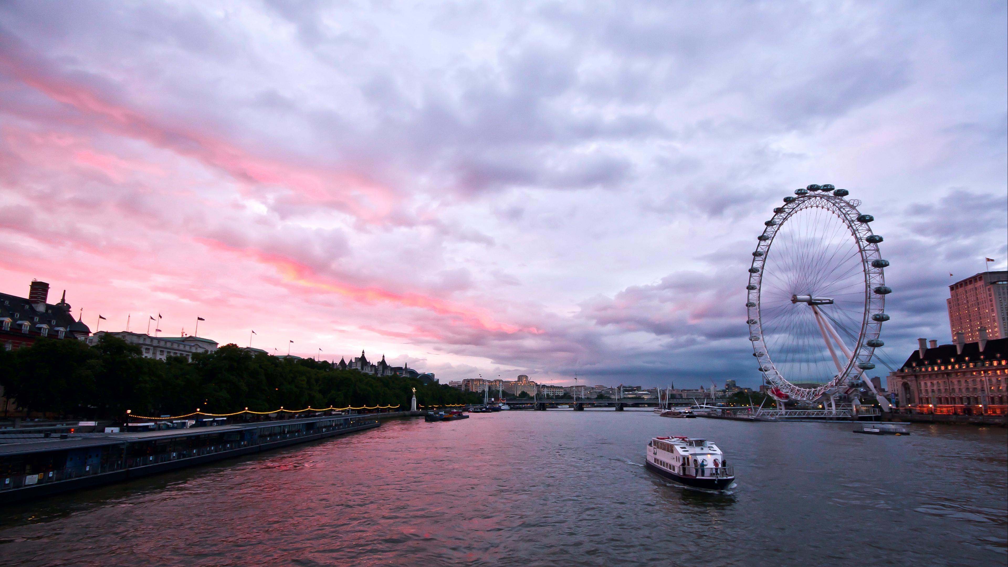 uk england london capital ferris wheel night building architecture promenade river thames sky clouds 4k 1538065647 - uk, england, london, capital, ferris wheel, night, building, architecture, promenade, river, thames, sky, clouds 4k - uk, London, England