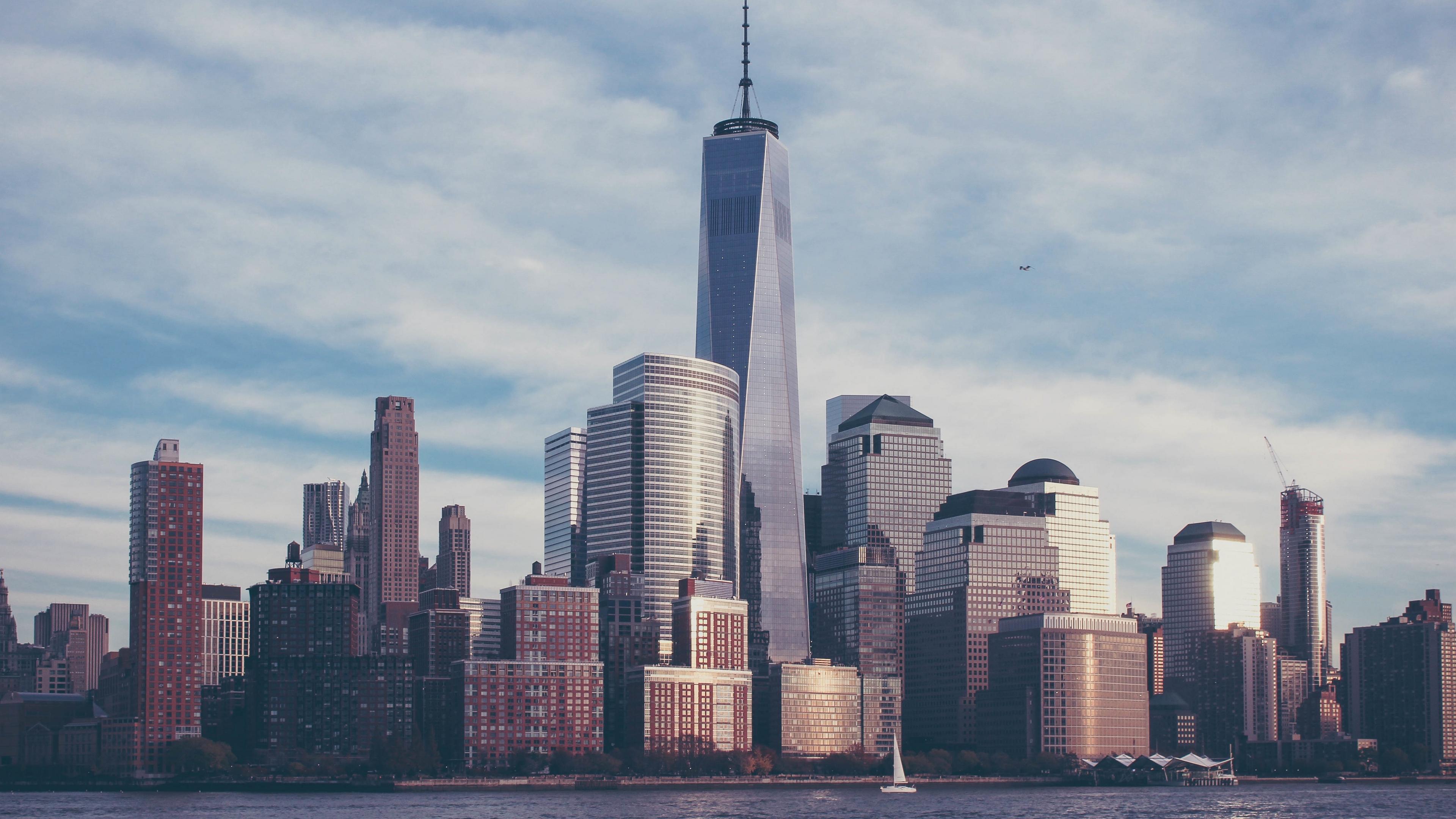 usa new york skyscrapers 4k 1538068146 - usa, new york, skyscrapers 4k - USA, Skyscrapers, new york