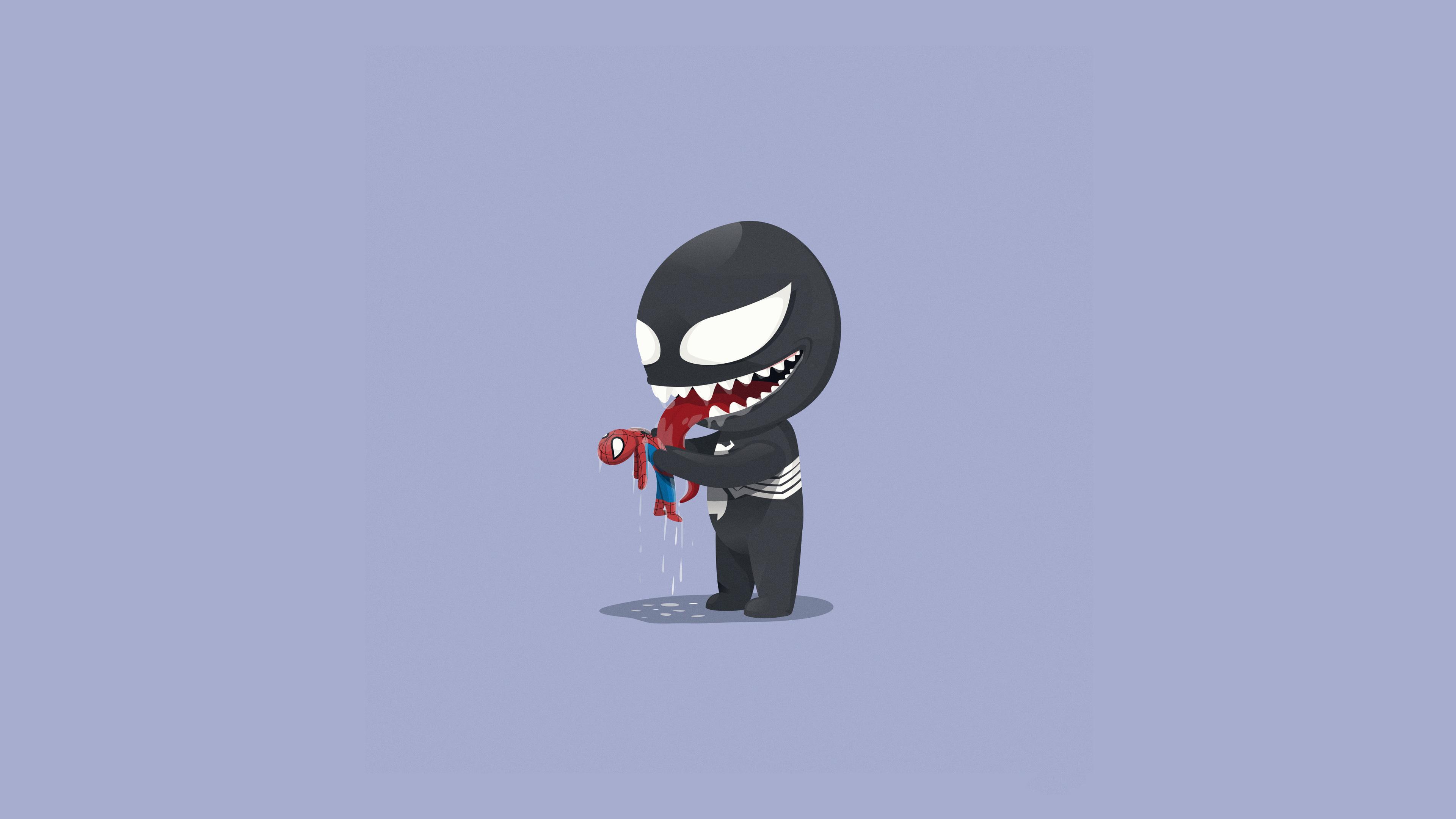 venom playtime with little spidey 1536523725 - Venom Playtime With Little Spidey - Venom wallpapers, supervillain wallpapers, superheroes wallpapers, spiderman wallpapers, hd-wallpapers, digital art wallpapers, artwork wallpapers, artstation wallpapers, artist wallpapers, art wallpapers, 4k-wallpapers