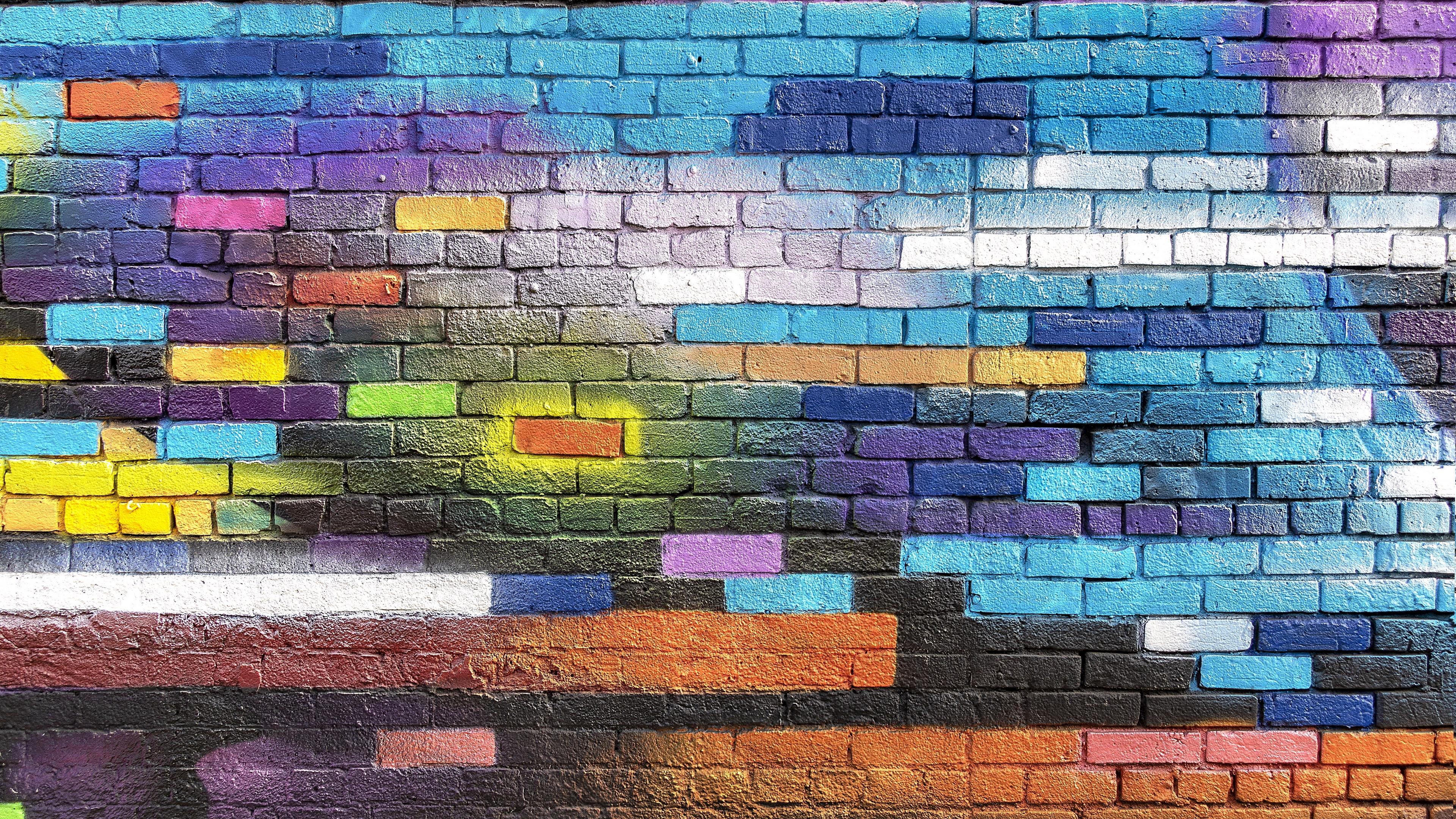 wall brick colorful paint street art graffiti 4k 1536097892 - wall, brick, colorful, paint, street art, graffiti 4k - WALL, Colorful, brick