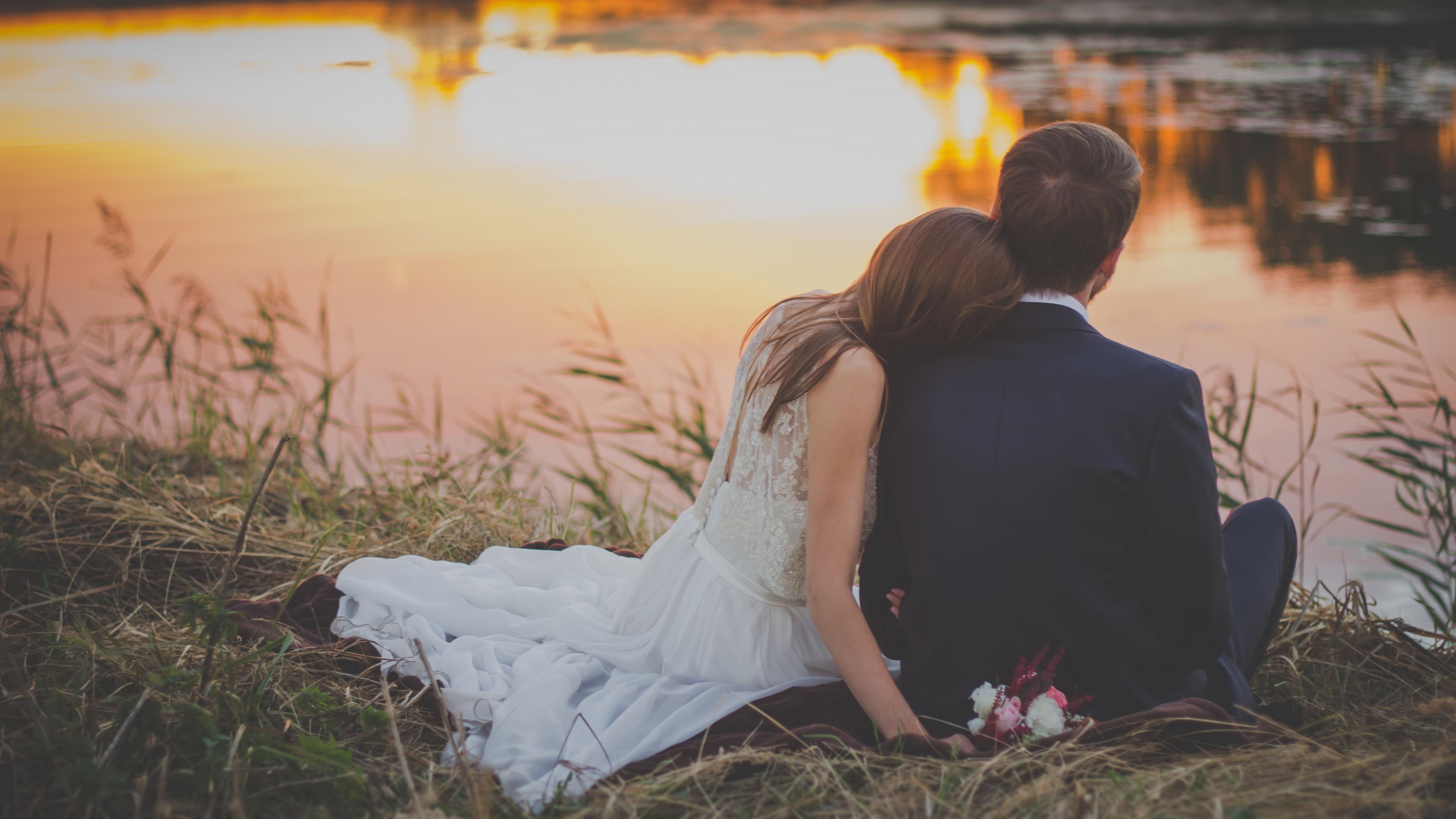 wedding newlyweds couple romance love 4k 1538344728 - wedding, newlyweds, couple, romance, love 4k - Wedding, newlyweds, Couple