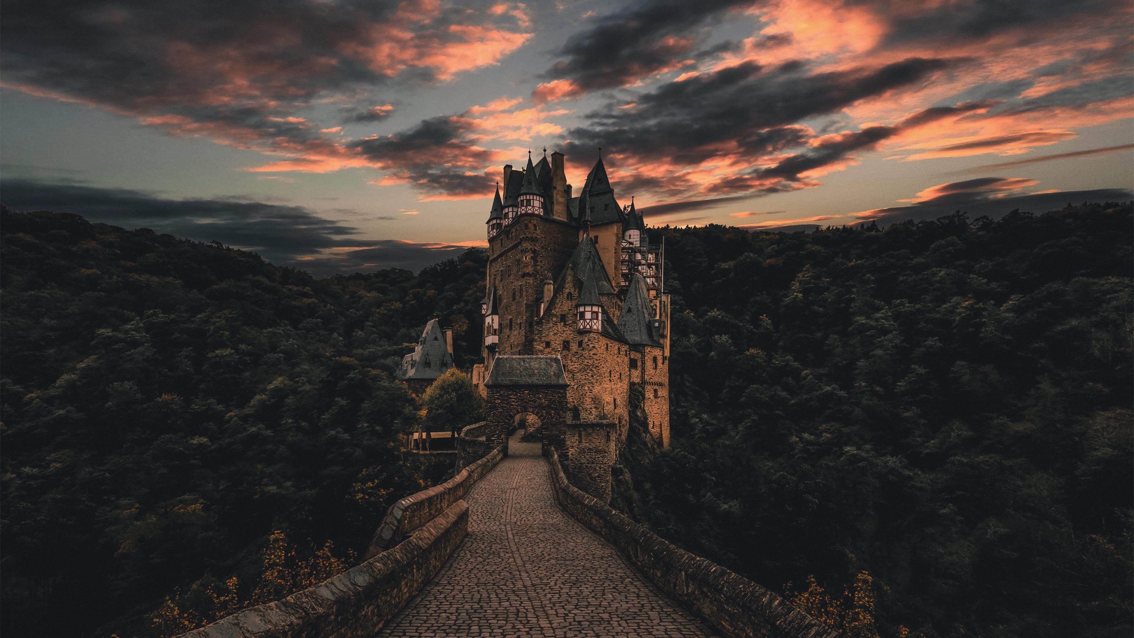 wierschem germany castle trail evening sky 4k 1538068046 - wierschem, germany, castle, trail, evening, sky 4k - wierschem, Germany, Castle