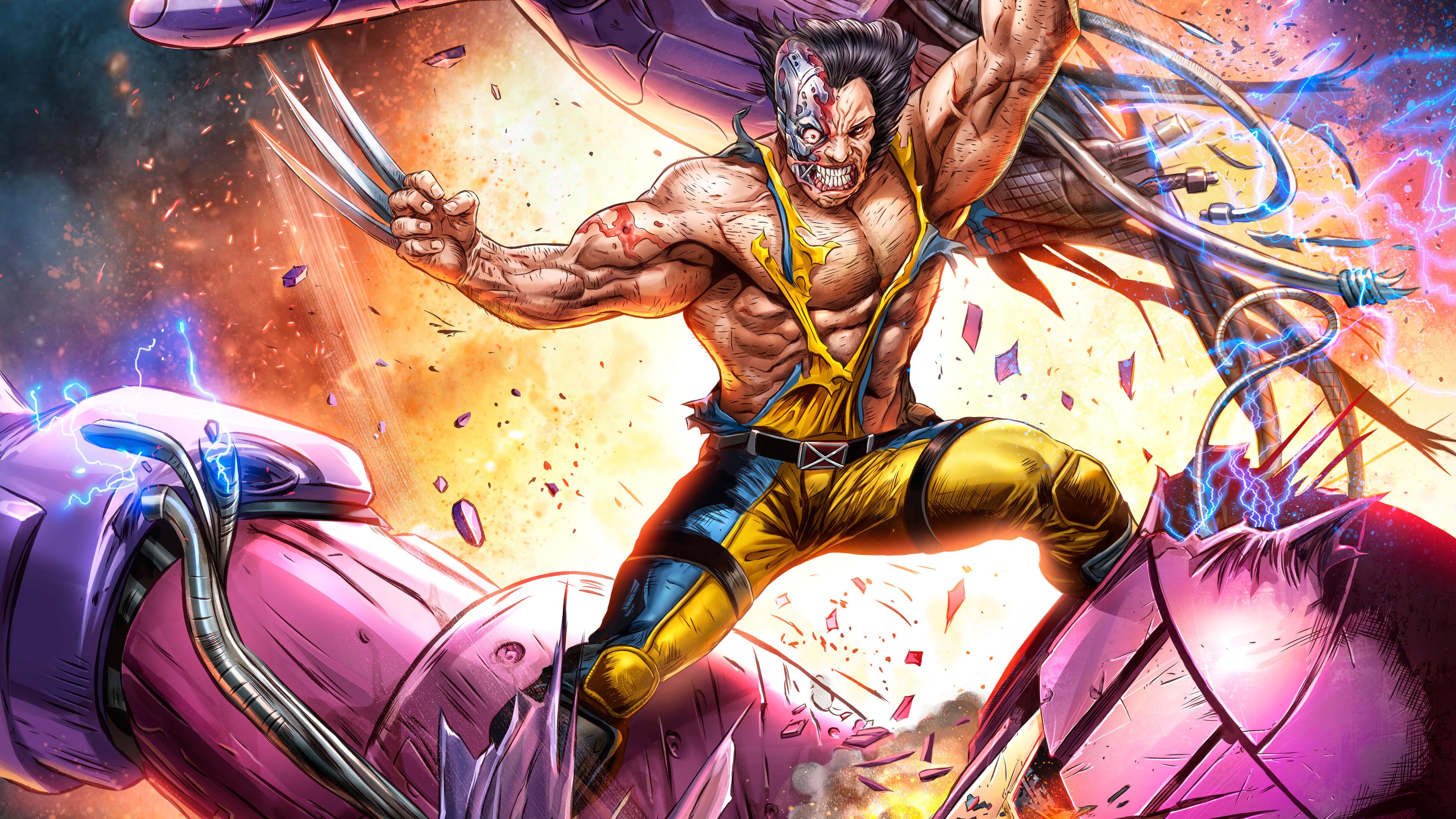 wolverine vs sentinel artwork 5k 1537645987 - Wolverine Vs Sentinel Artwork 5k - wolverine wallpapers, superheroes wallpapers, sentinel wallpapers, marvel wallpapers, hd-wallpapers, digital art wallpapers, artwork wallpapers, 5k wallpapers, 4k-wallpapers