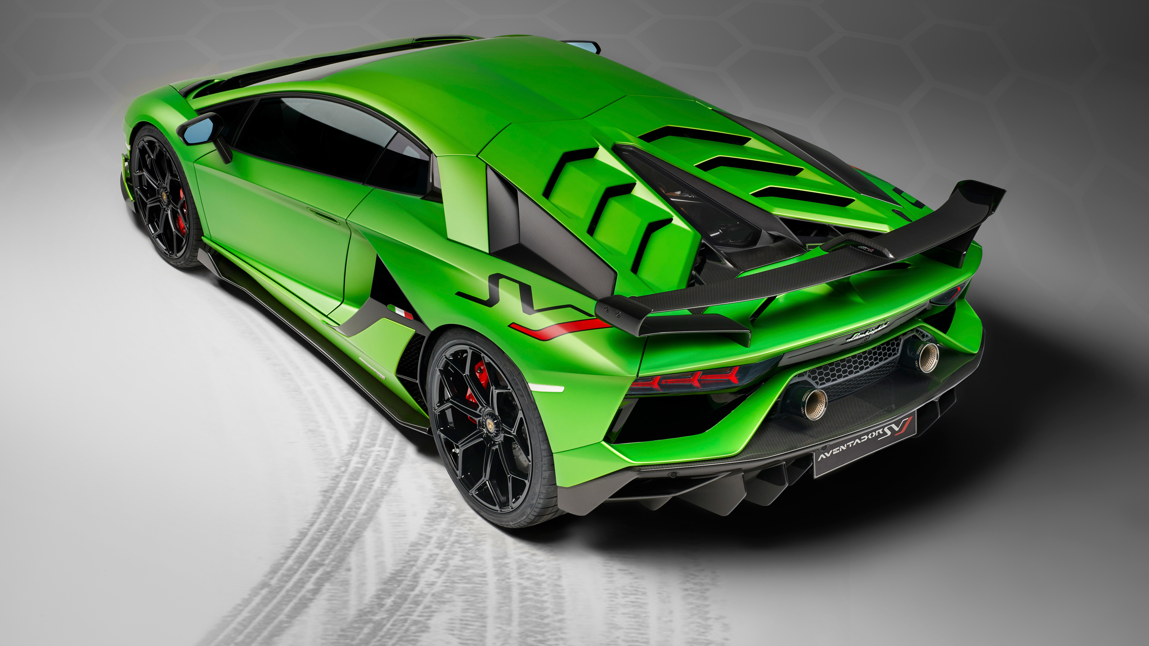 Wallpaper 4k 2018 Lamborghini Aventador Svj Rear Upper View 2018