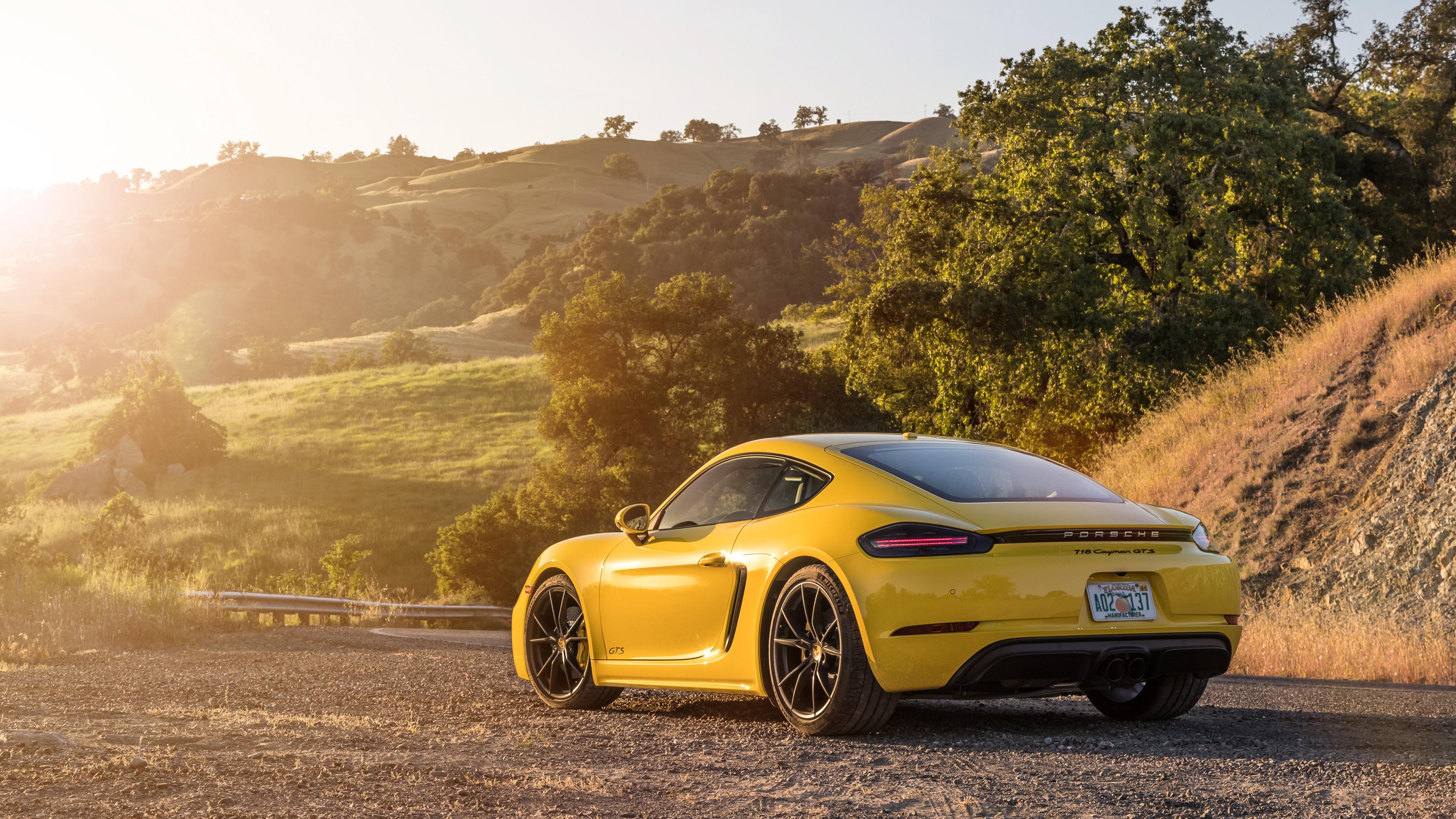 2019 porsche 718 cayman gts rear side 4k 1539111497 - 2019 Porsche 718 Cayman GTS Rear Side 4k - porsche wallpapers, porsche 718 wallpapers, hd-wallpapers, cars wallpapers, 4k-wallpapers, 2018 cars wallpapers