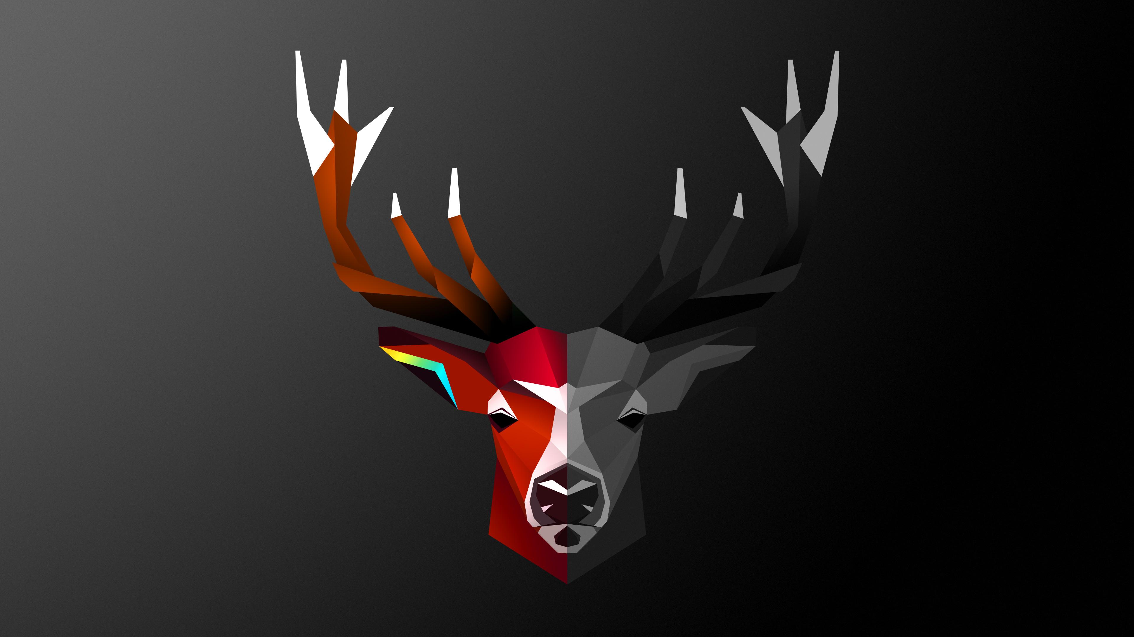 abstract deer 4k 1539371037 - Abstract Deer 4k - digital art wallpapers, deviantart wallpapers, deer wallpapers, artist wallpapers, abstract wallpapers, 4k-wallpapers