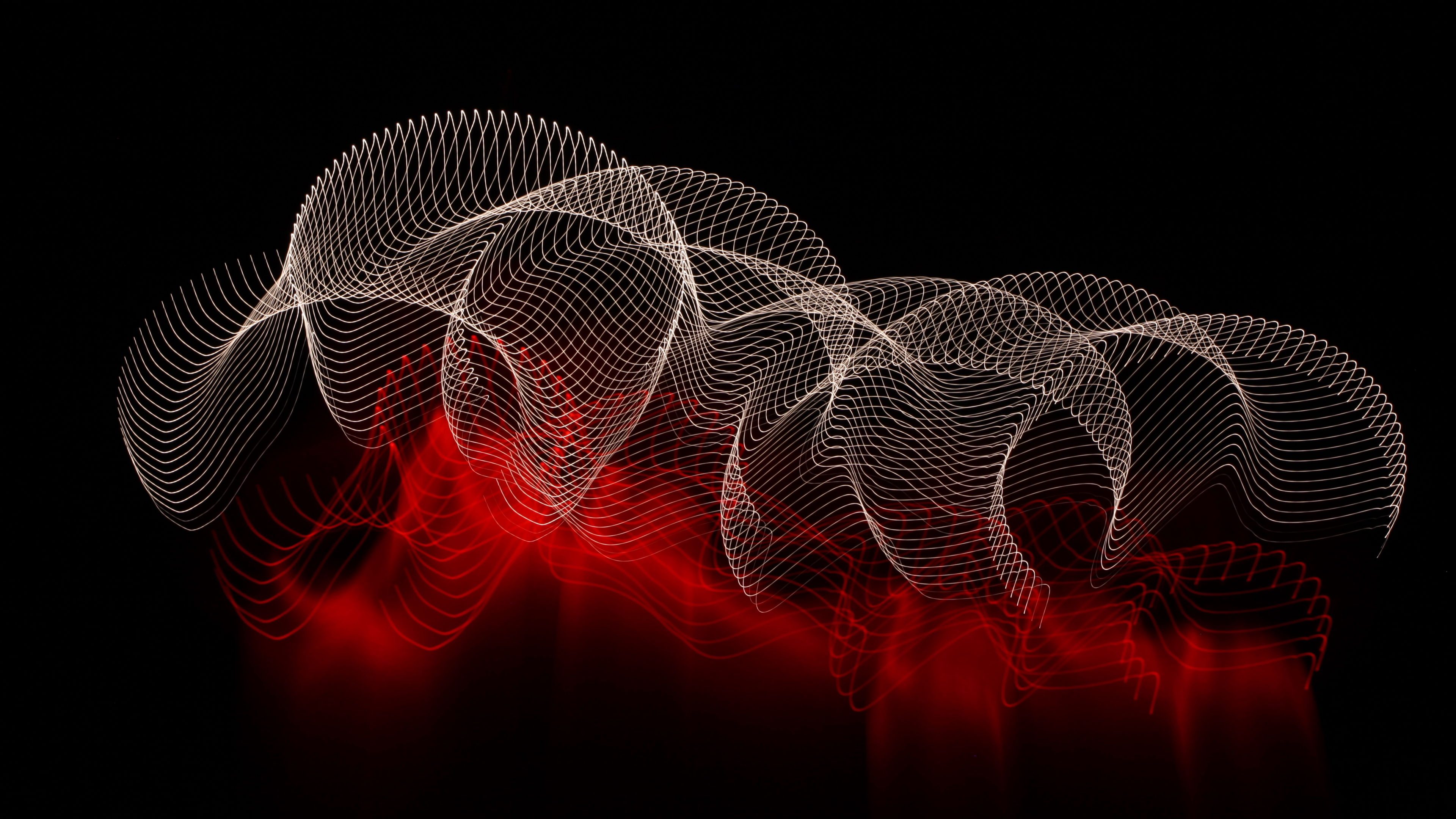 abstract lines spots dark background 4k 1539370461 - abstract, lines, spots, dark background 4k - spots, Lines, abstract