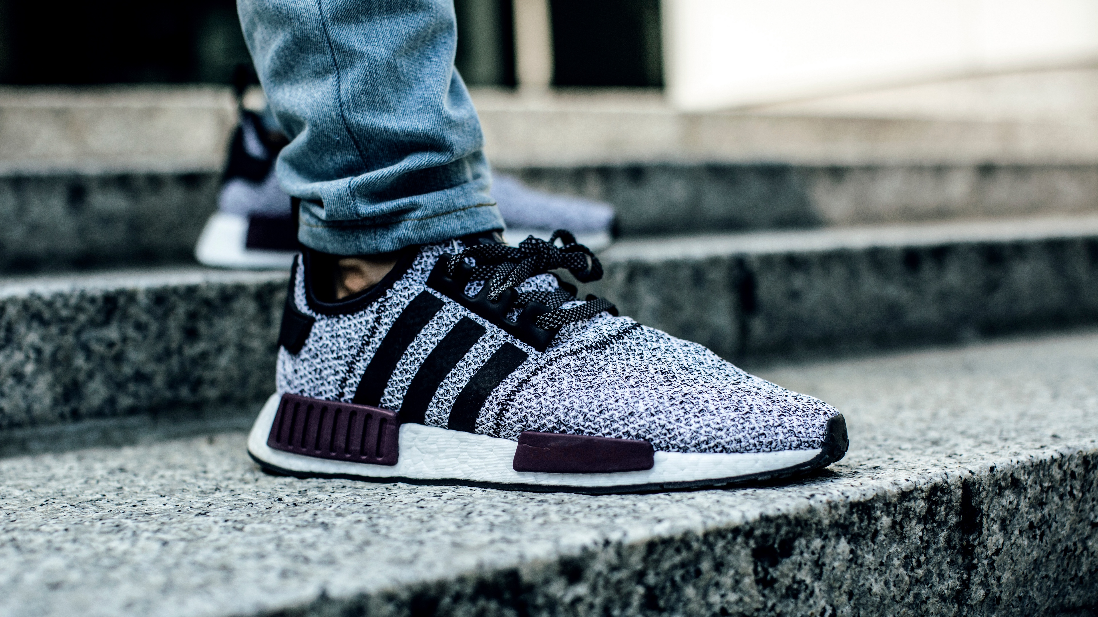 adidas sneakers shoes jeans legs stairs 4k 1540061881 - adidas, sneakers, shoes, jeans, legs, stairs 4k - sneakers, Shoes, Adidas