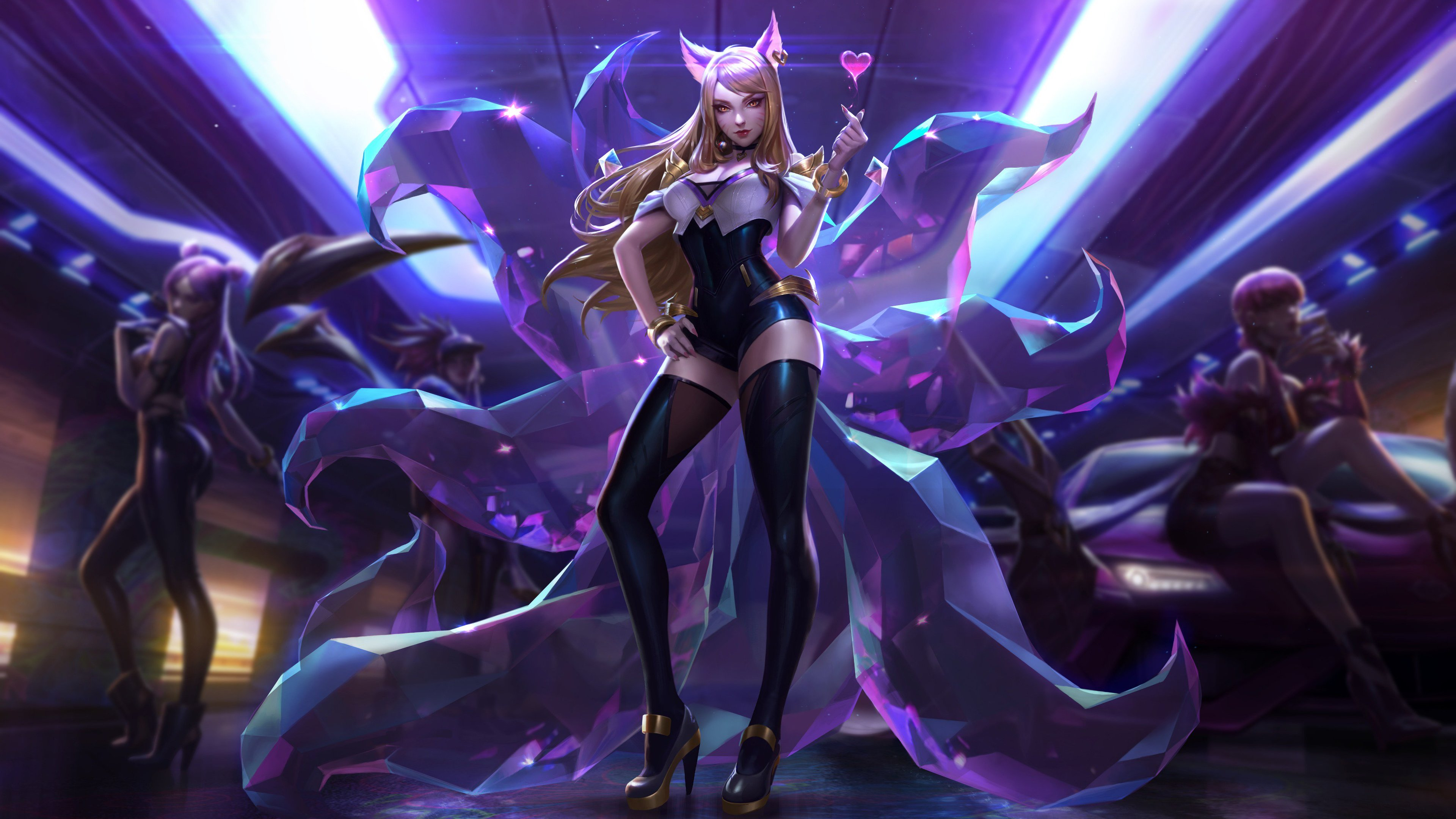 Wallpaper 4k Ahri League Of Legends 4k 4k Wallpapers Games
