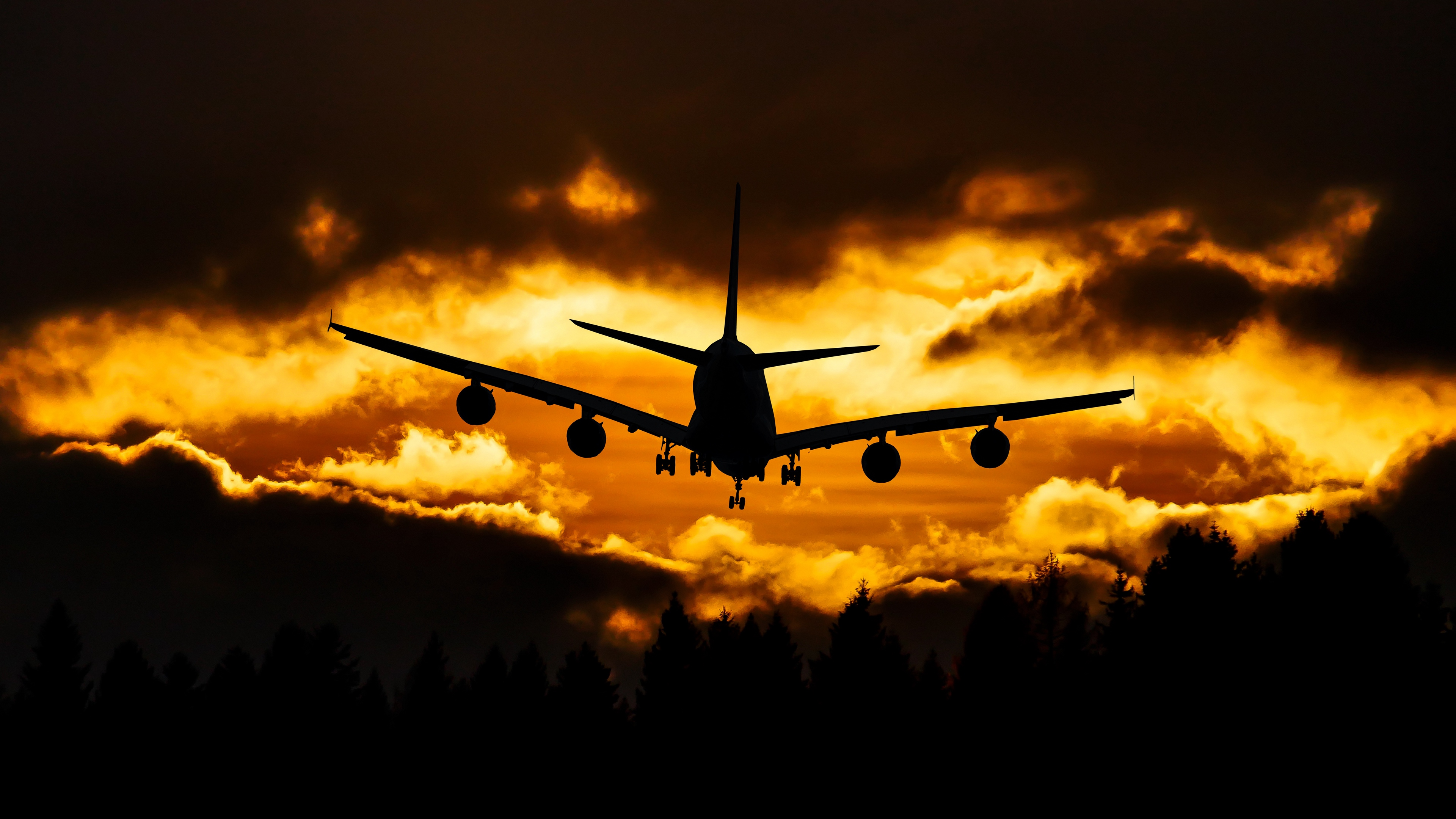 airplane clouds sky sunset 4k 1540574739 - airplane, clouds, sky, sunset 4k - Sky, Clouds, Airplane