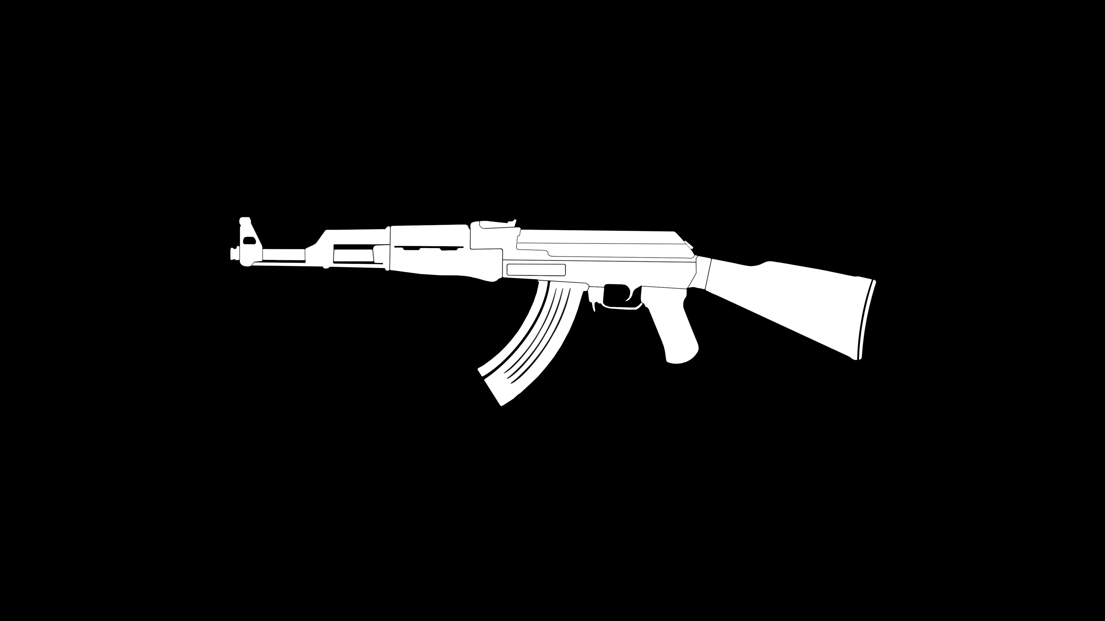 ak47 gun weapon minimalism 4k 1540751381 - AK47 Gun Weapon Minimalism 4k - weapon wallpapers, minimalism wallpapers, hd-wallpapers, gun wallpapers, ak47 wallpapers