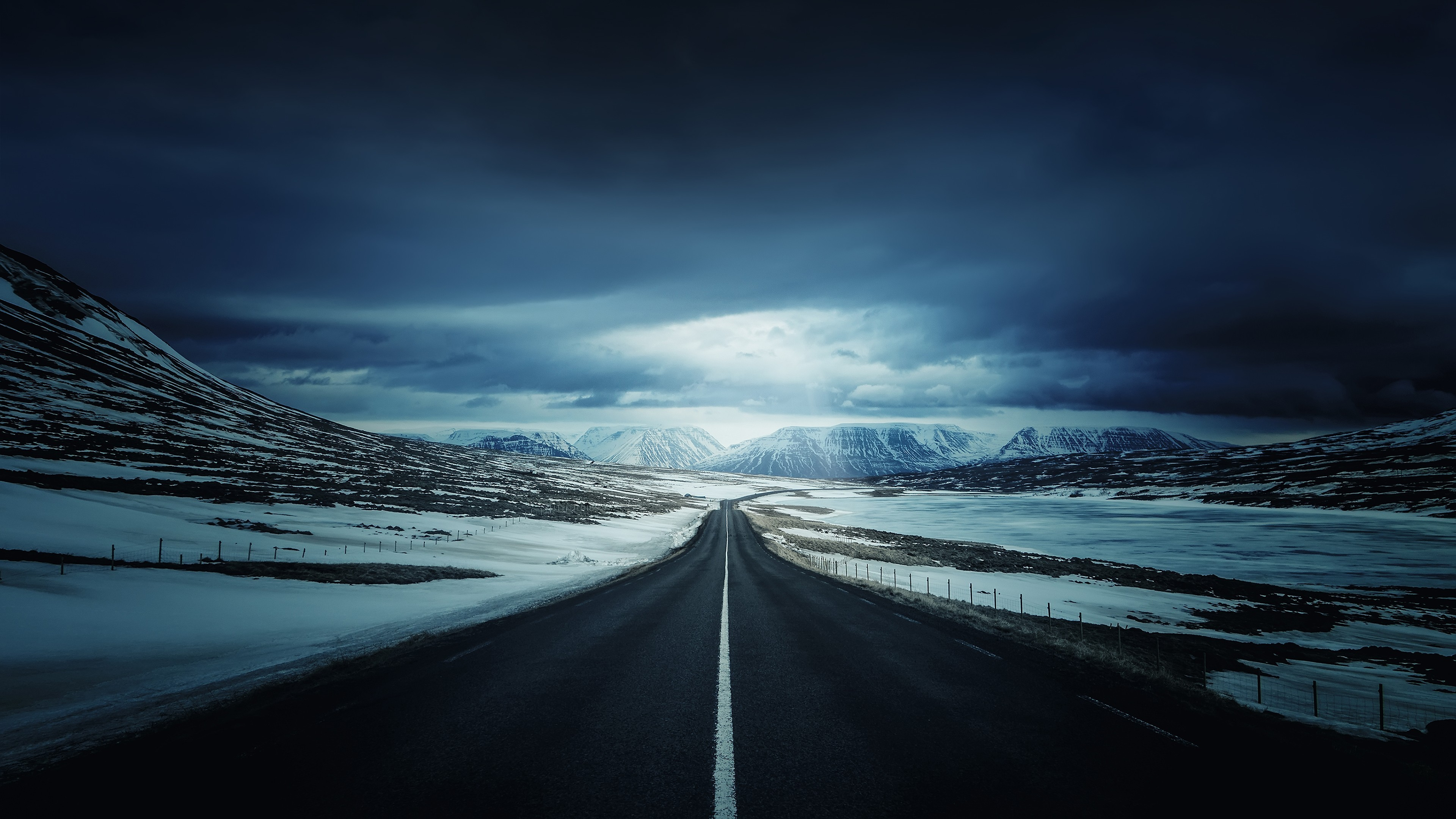alone road snow cold open sky mountains 4k 1540135641 - Alone Road Snow Cold Open Sky Mountains 4k - snow wallpapers, sky wallpapers, road wallpapers, nature wallpapers, mountains wallpapers, landscape wallpapers, hd-wallpapers, clouds wallpapers, alone wallpapers, 4k-wallpapers