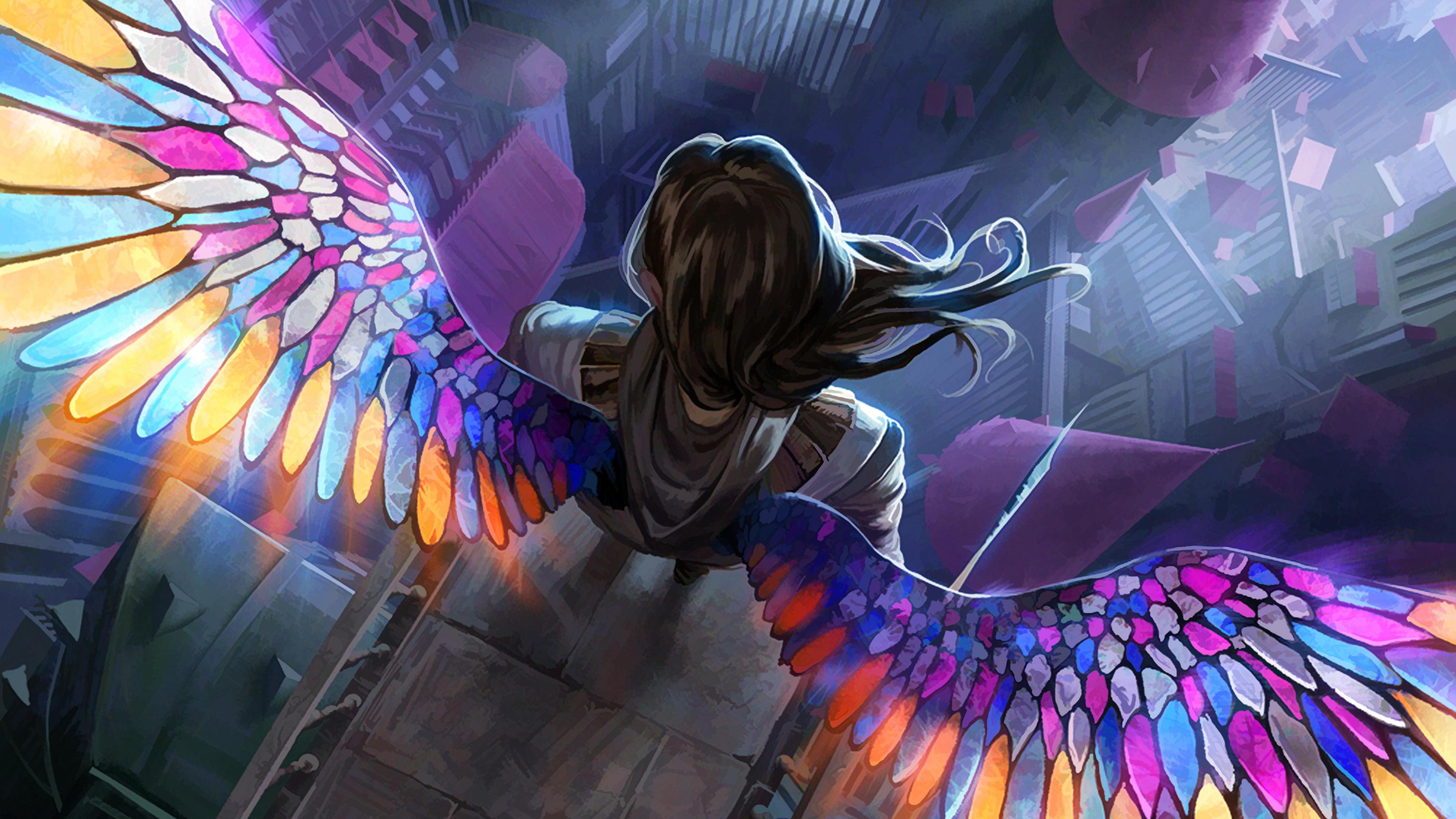 angel colorful wings 4k 1540749783 - Angel Colorful Wings 4k - wings wallpapers, hd-wallpapers, digital art wallpapers, deviantart wallpapers, colorful wallpapers, artwork wallpapers, artist wallpapers, angel wallpapers, 5k wallpapers, 4k-wallpapers