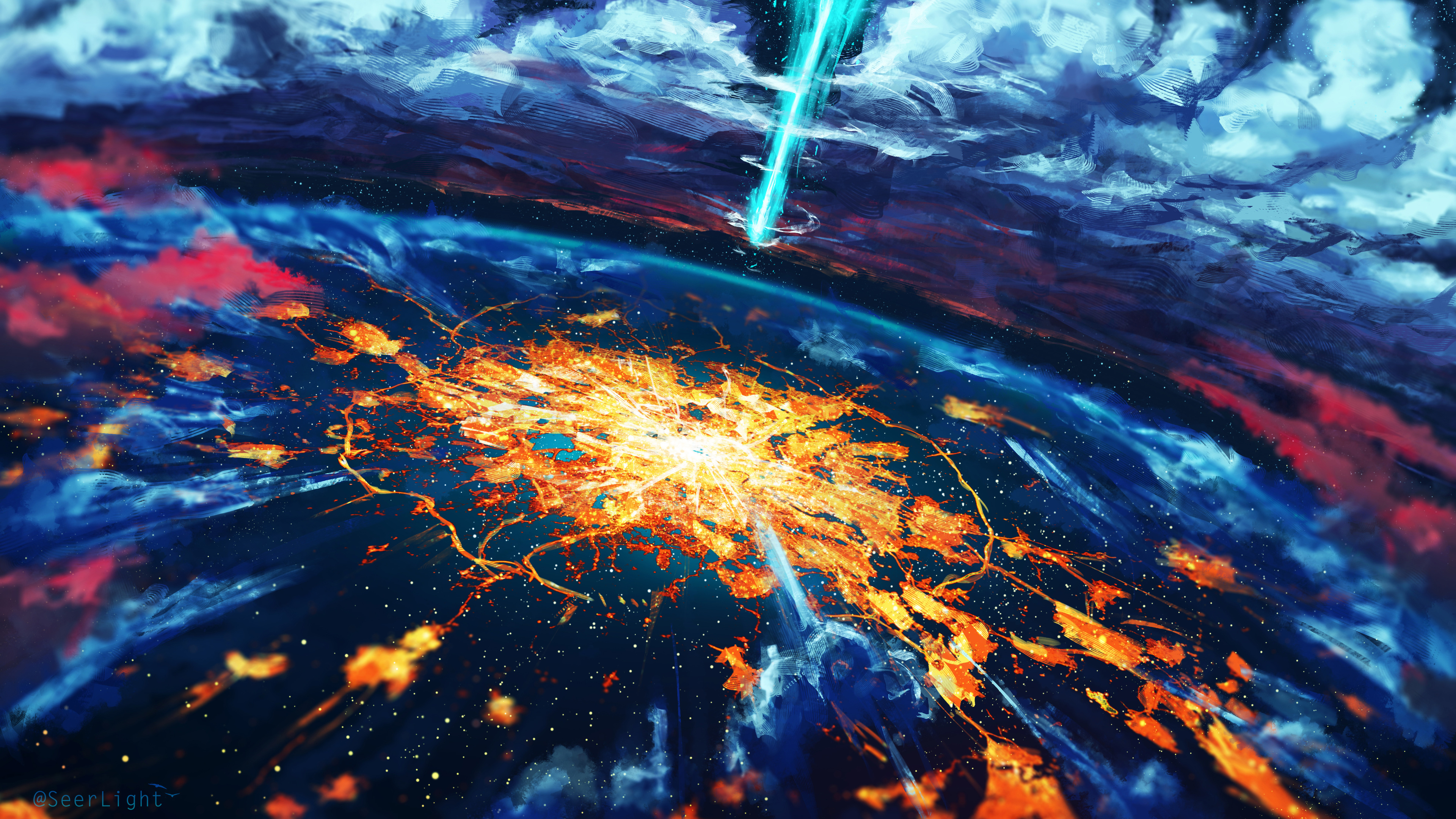 apocalypse cosmos disaster explosion world 4k 1540750646 - Apocalypse Cosmos Disaster Explosion World 4k - hd-wallpapers, explosion wallpapers, deviantart wallpapers, cosmos wallpapers, apocalypse wallpapers, 5k wallpapers, 4k-wallpapers