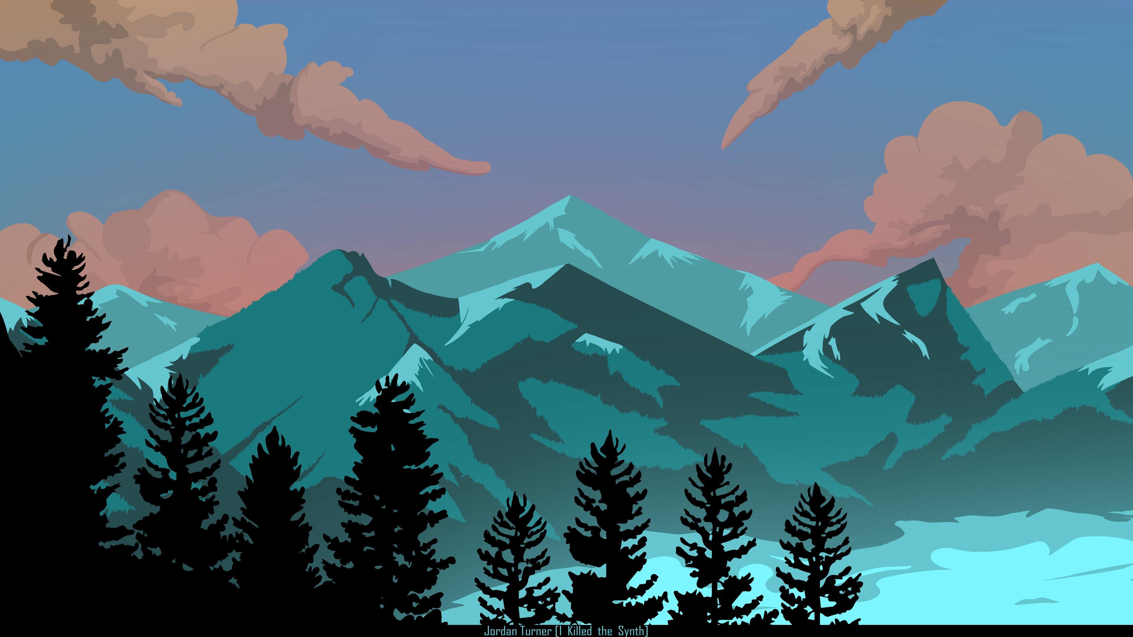 appalachia mountain 4k illustration 1540755871 - Appalachia Mountain 4k Illustration - illustration wallpapers, hd-wallpapers, digital art wallpapers, artwork wallpapers, artist wallpapers, 8k wallpapers, 4k-wallpapers