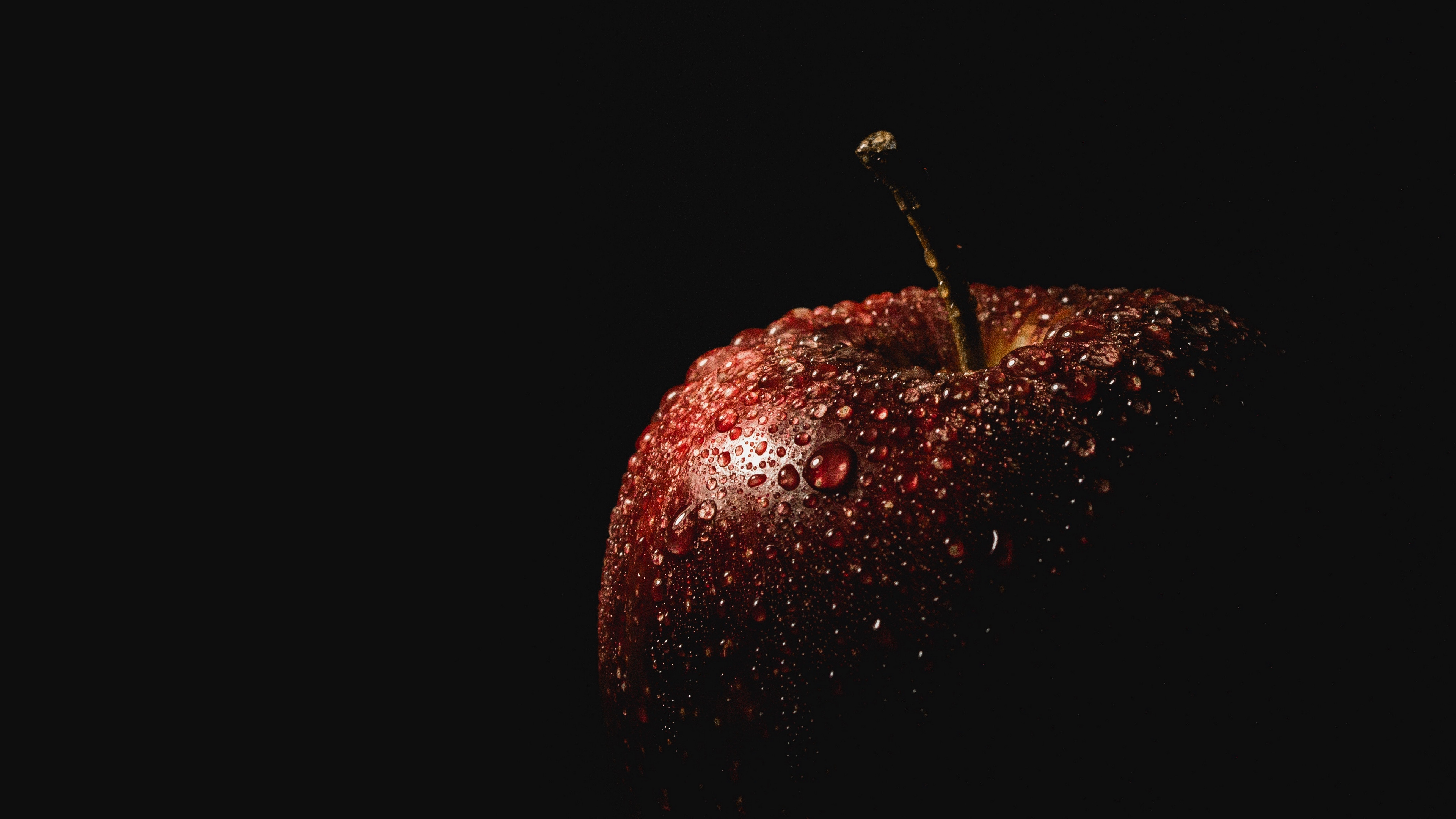 apple drops black background 4k 1540575975 - apple, drops, black background 4k - Drops, black background, Apple