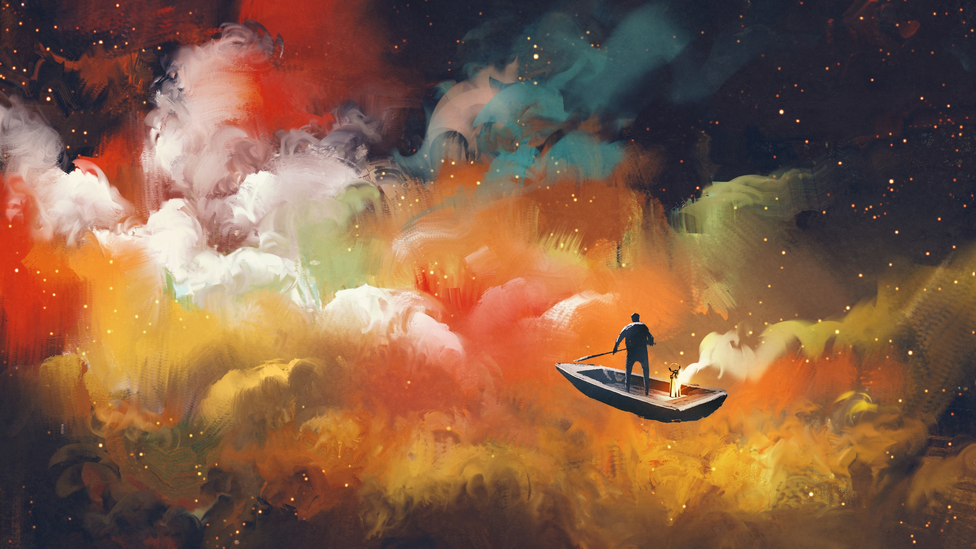 artistic cloud boat outer space floating 4k 1540754256 - Artistic Cloud Boat Outer Space Floating 4k - hd-wallpapers, digital art wallpapers, cloud wallpapers, boat wallpapers, artwork wallpapers, artist wallpapers, 5k wallpapers, 4k-wallpapers