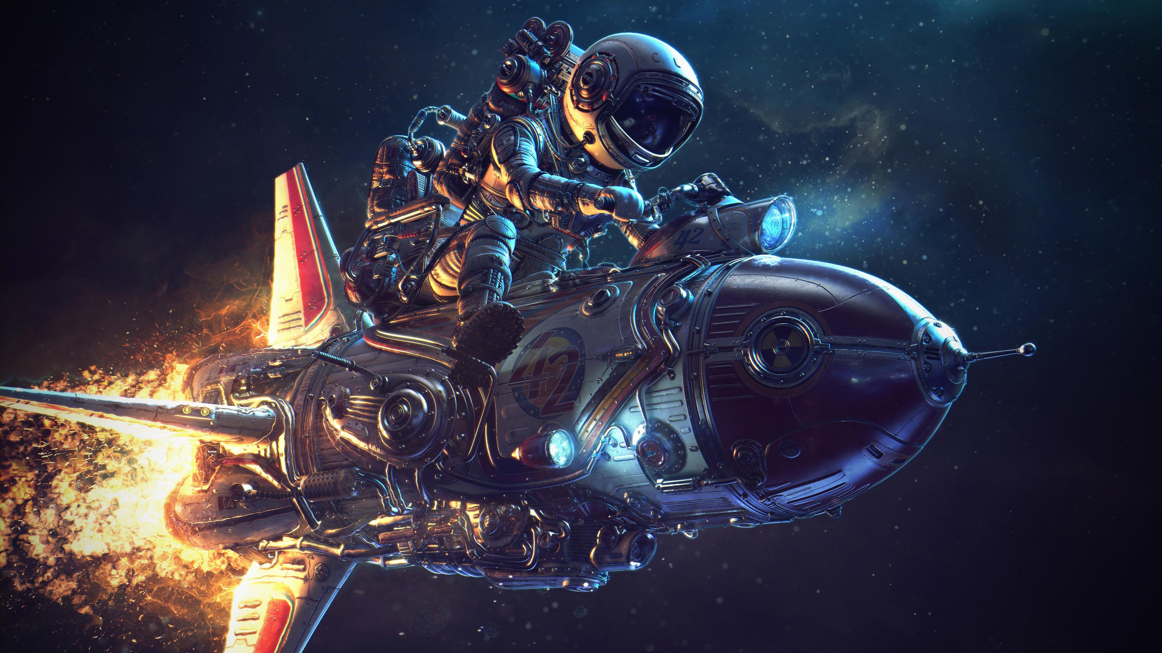 astronaut rocket science fiction 4k 1540754363 - Astronaut Rocket Science Fiction 4k - science fiction wallpapers, rocket wallpapers, hd-wallpapers, digital art wallpapers, astronaut wallpapers, artwork wallpapers, artist wallpapers, 4k-wallpapers