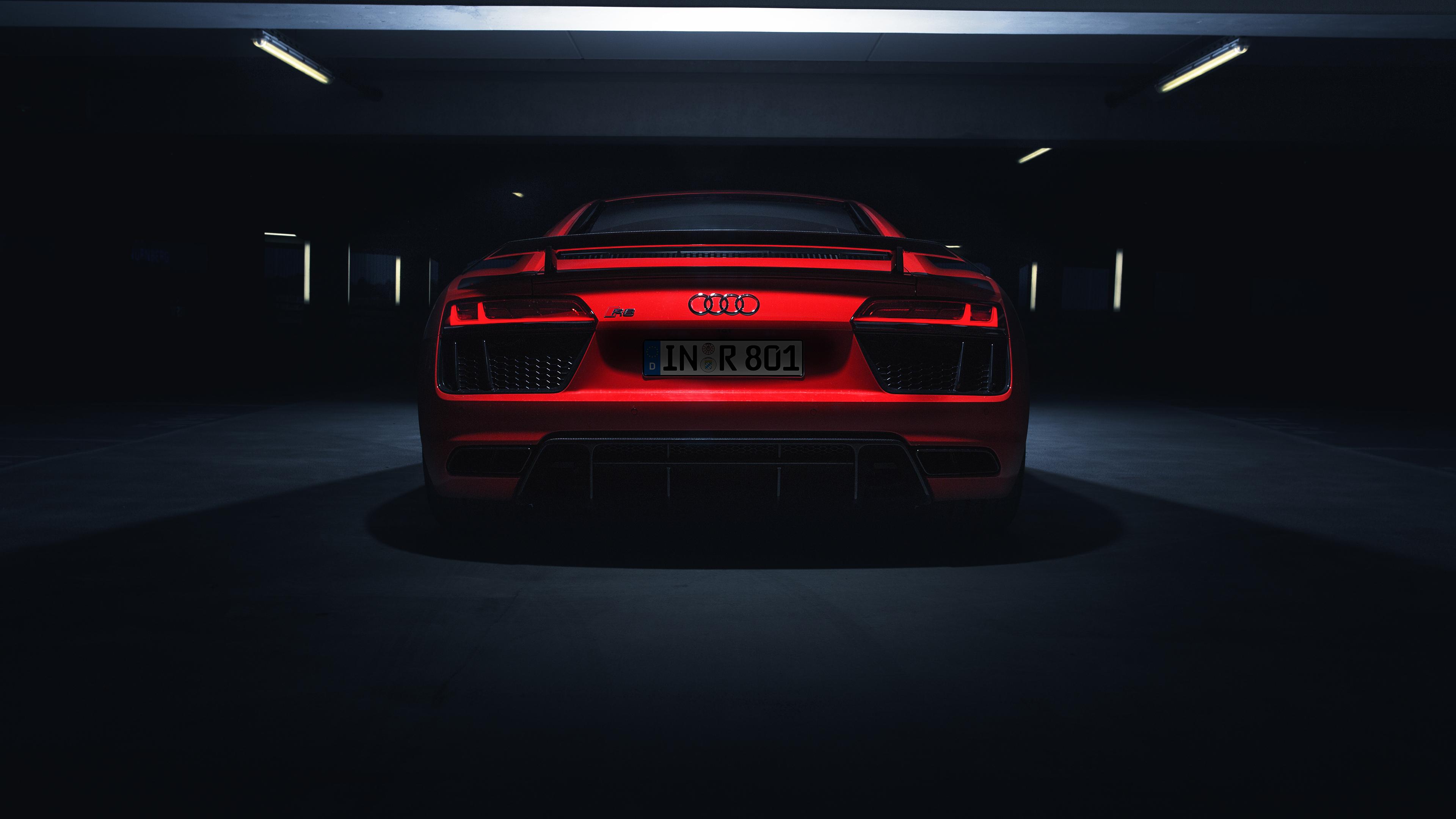 Wallpaper 4k Audi R8 V10 Plus 2018 Rear Look 4k 2018 Cars Wallpapers