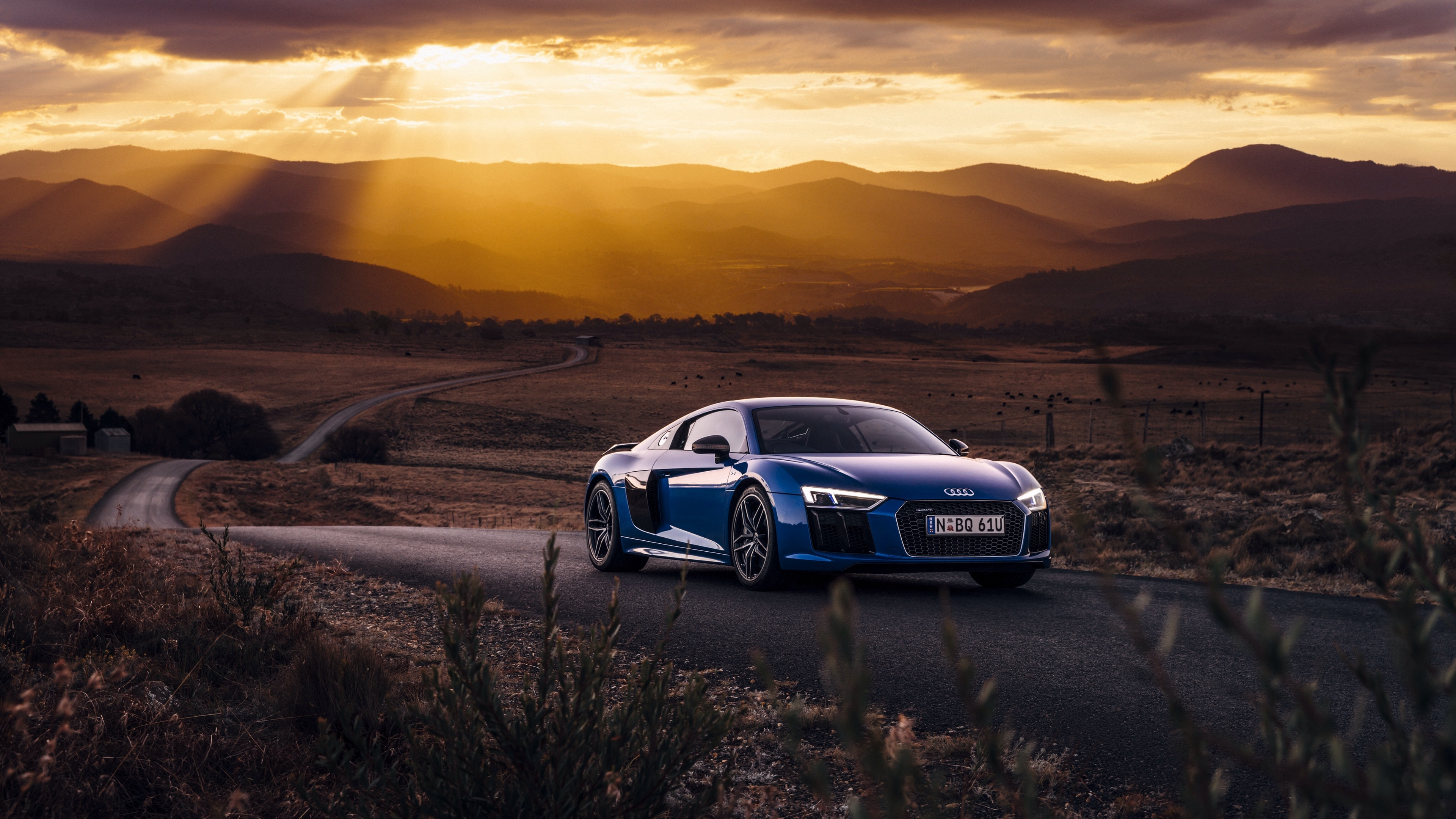 audi r8 v10 side view road 4k 1538937119 - audi, r8, v10, side view, road 4k - V10, r8, Audi