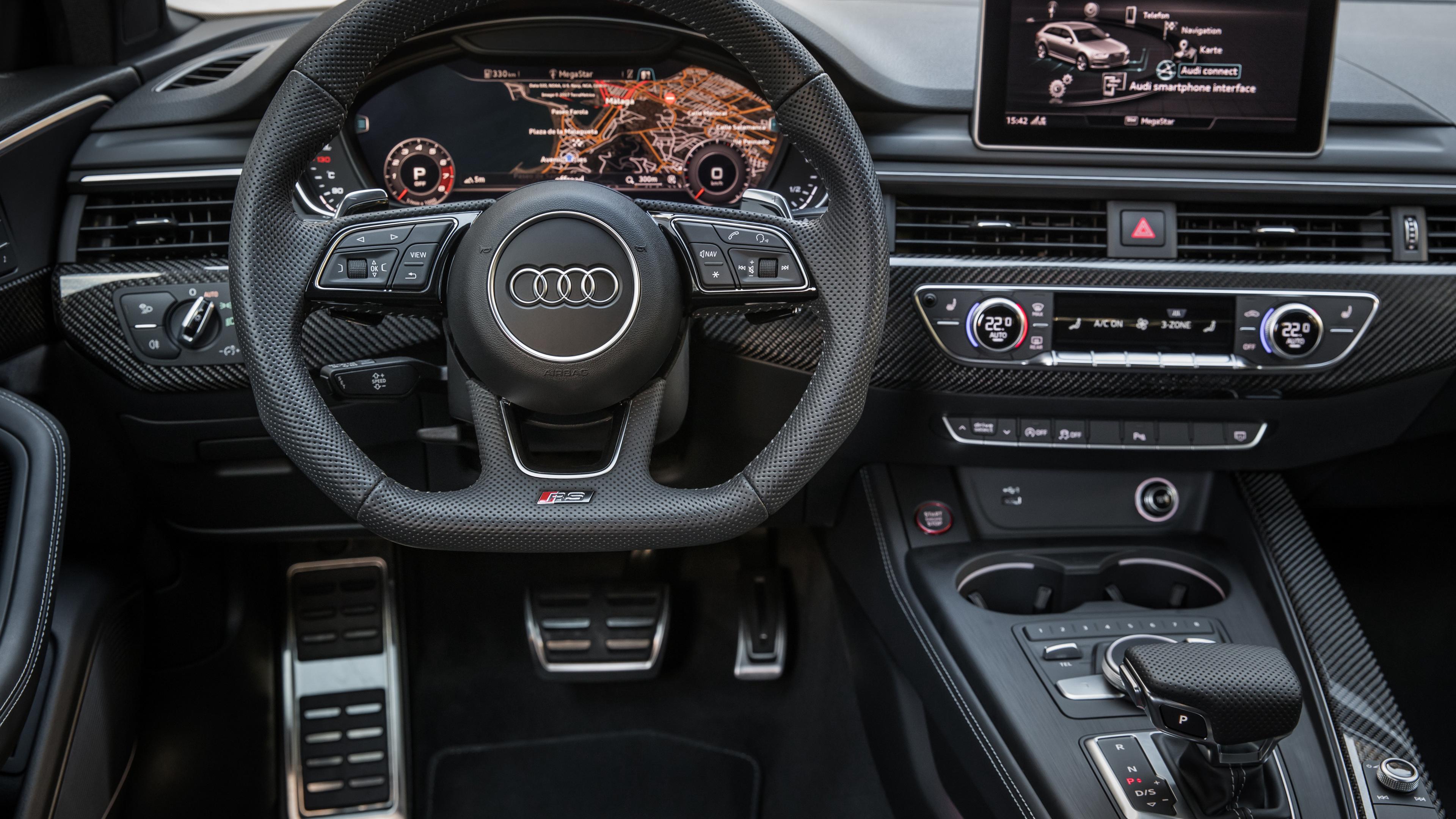 Wallpaper 4k Audi Rs 4 Avant Interior 2017 Cars Wallpapers 4k