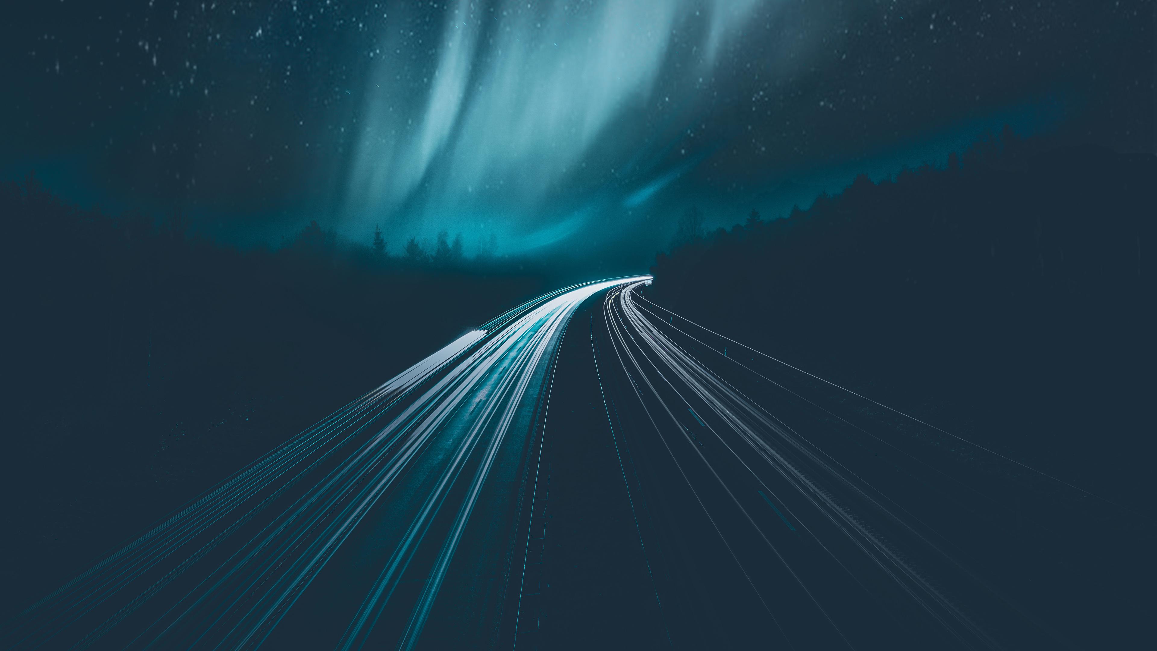 aurora borealis during night time 4k 1540136345 - Aurora Borealis During Night Time 4k - time lapse wallpapers, road wallpapers, nature wallpapers, hd-wallpapers, aurora wallpapers, 5k wallpapers, 4k-wallpapers