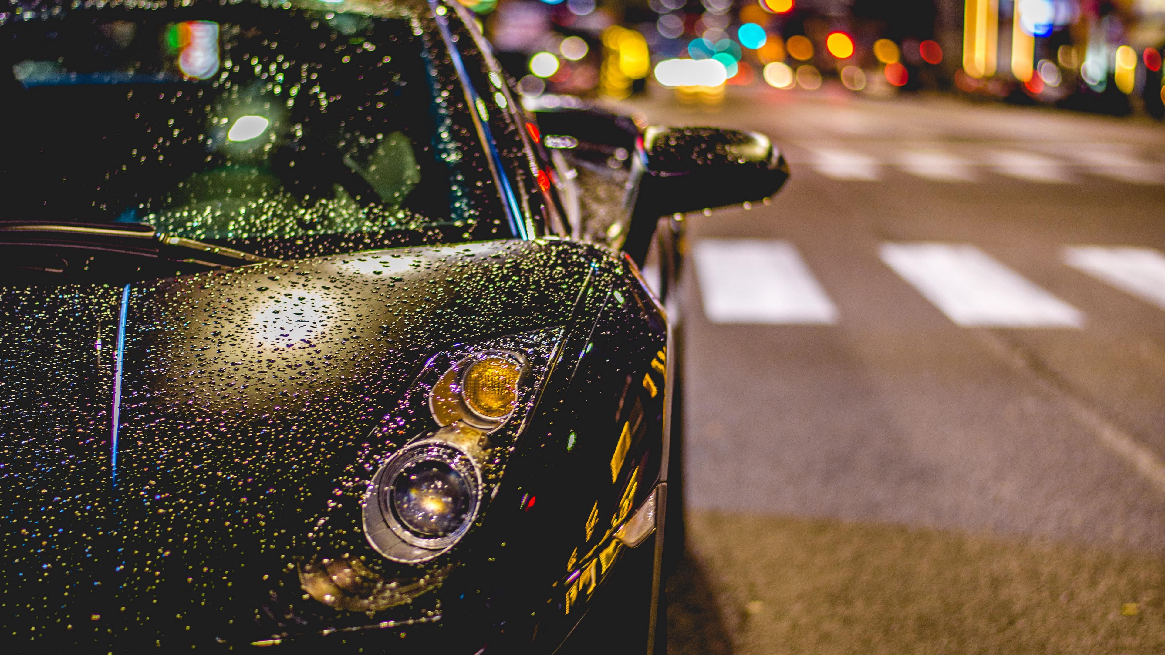 auto front view rain drops 4k 1538936331 - auto, front view, rain, drops 4k - Rain, front view, auto