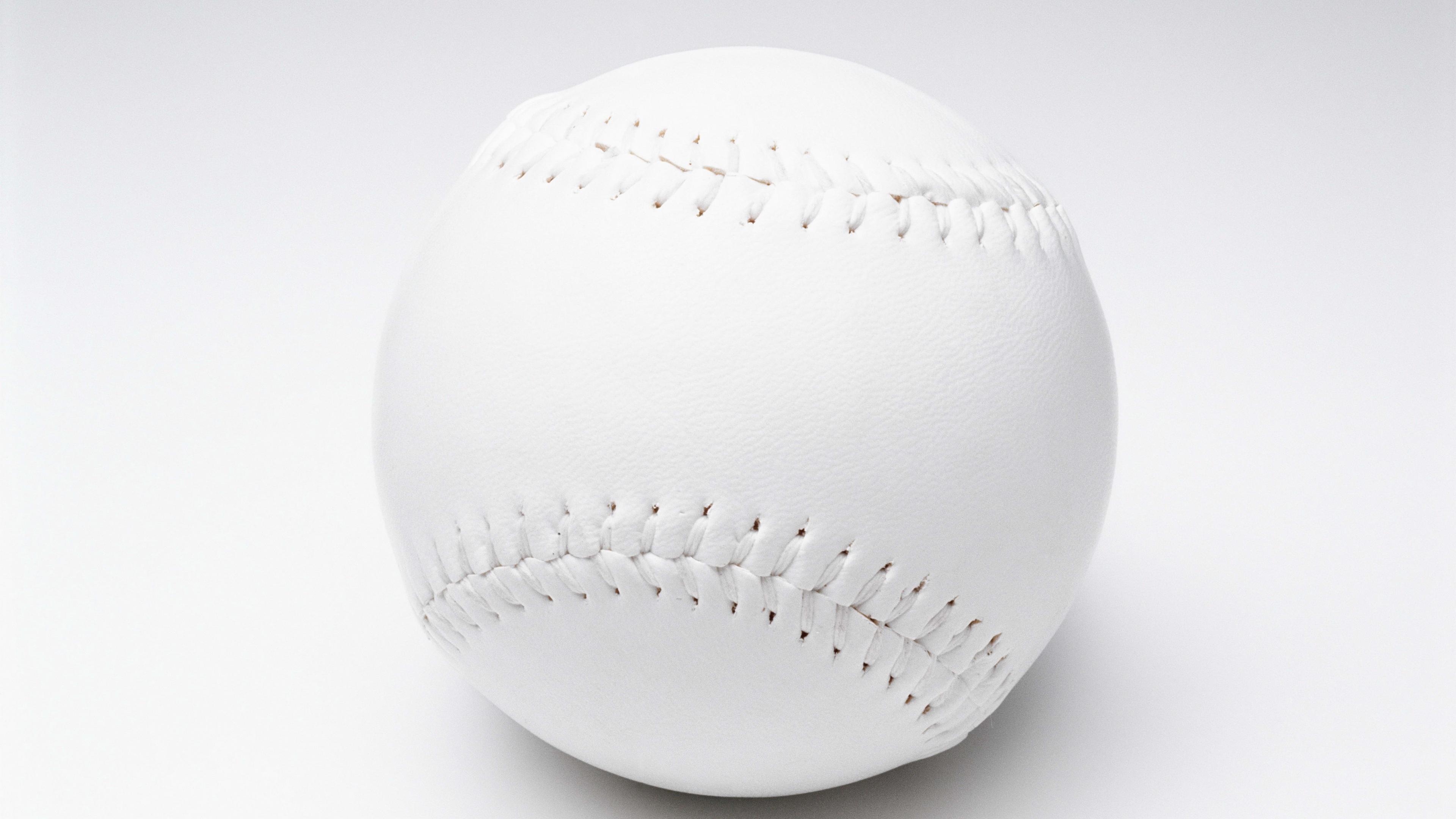 baseball ball white background 4k 1540062546 - baseball, ball, white background 4k - white background, Baseball, Ball