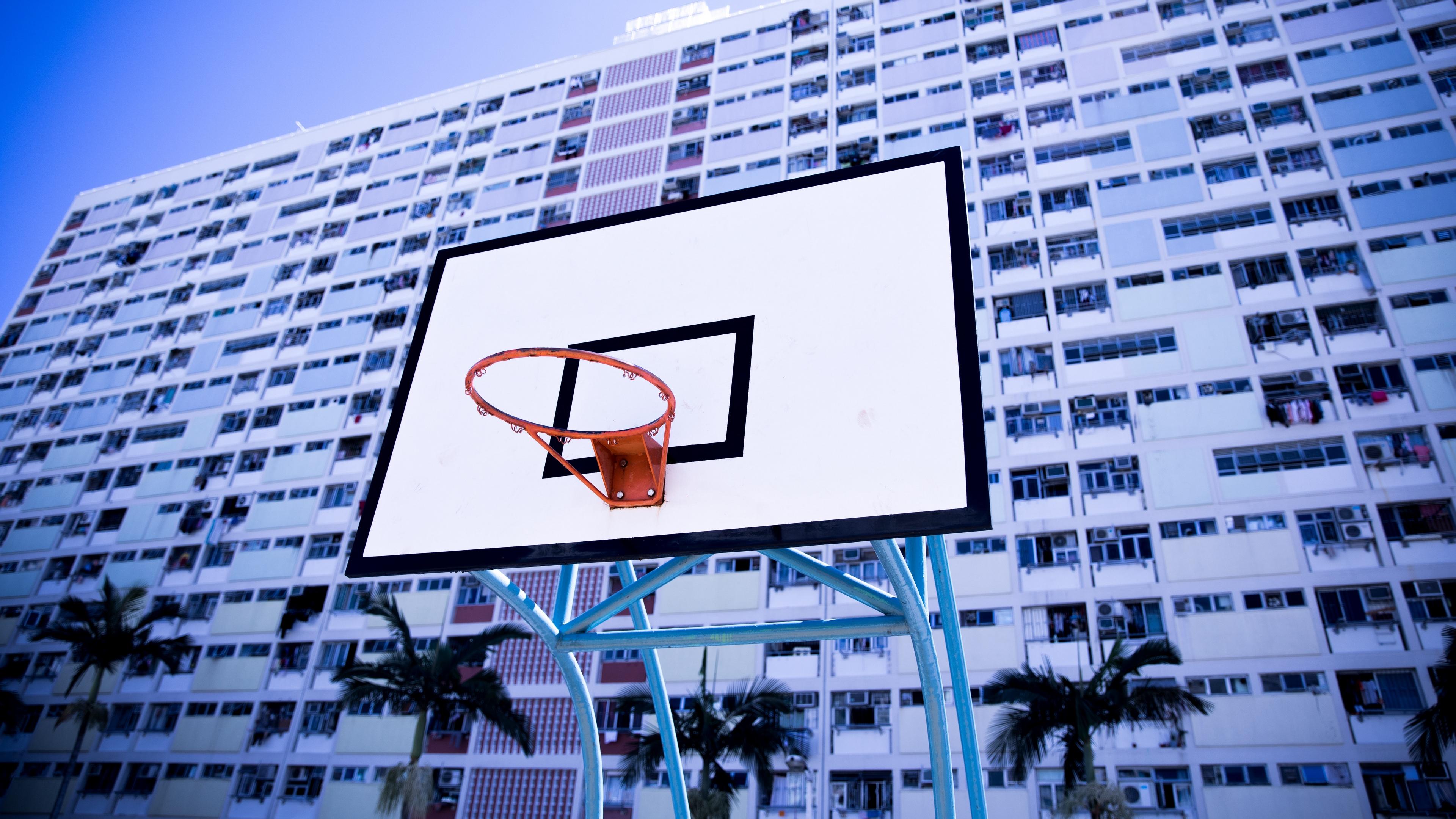 basketball net building ring 4k 1540061893 - basketball net, building, ring 4k - Ring, Building, basketball net