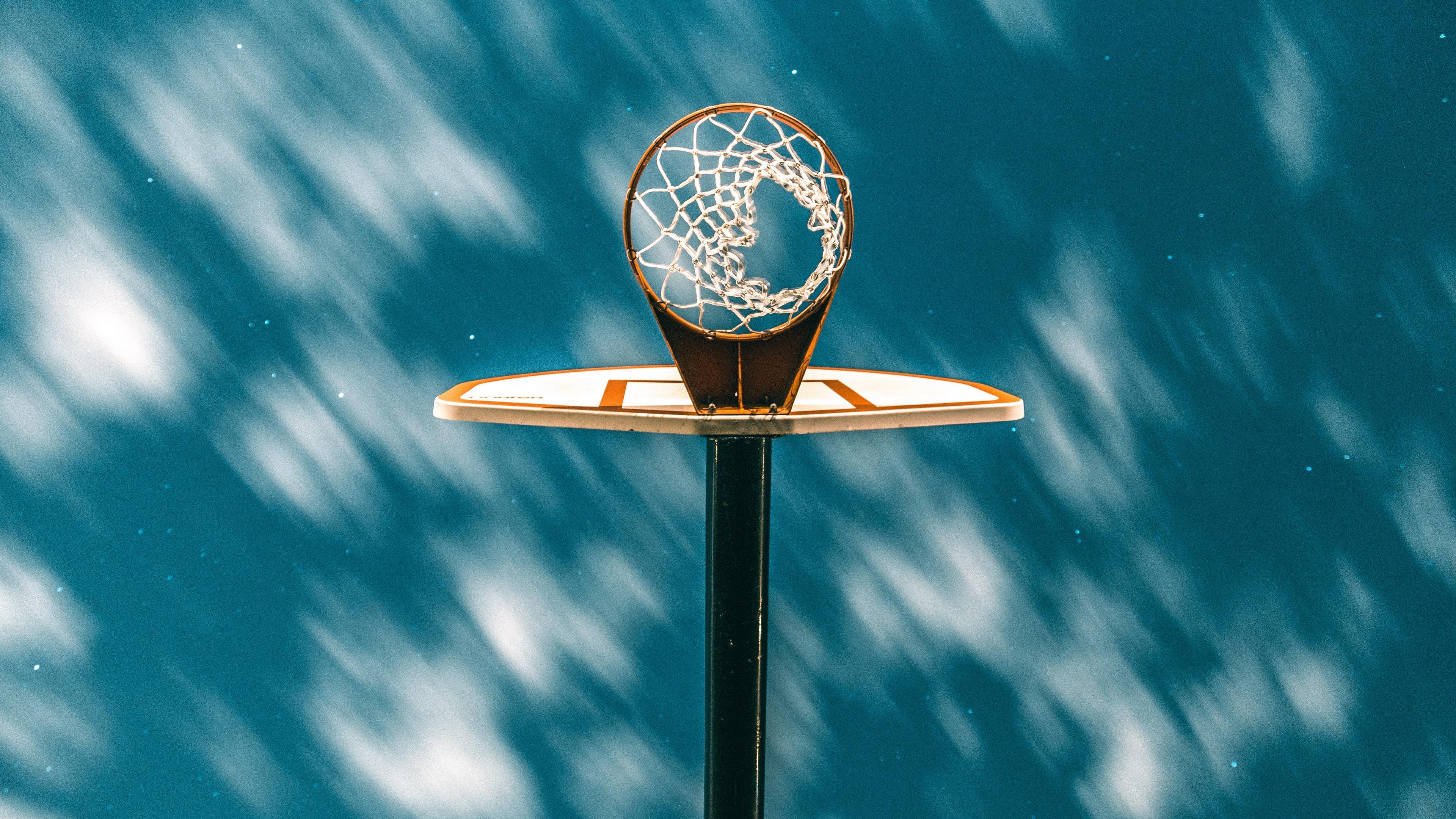 basketball ring basketball grid starry sky clouds 4k 1540062501 - basketball ring, basketball, grid, starry sky, clouds 4k - Grid, basketball ring, Basketball