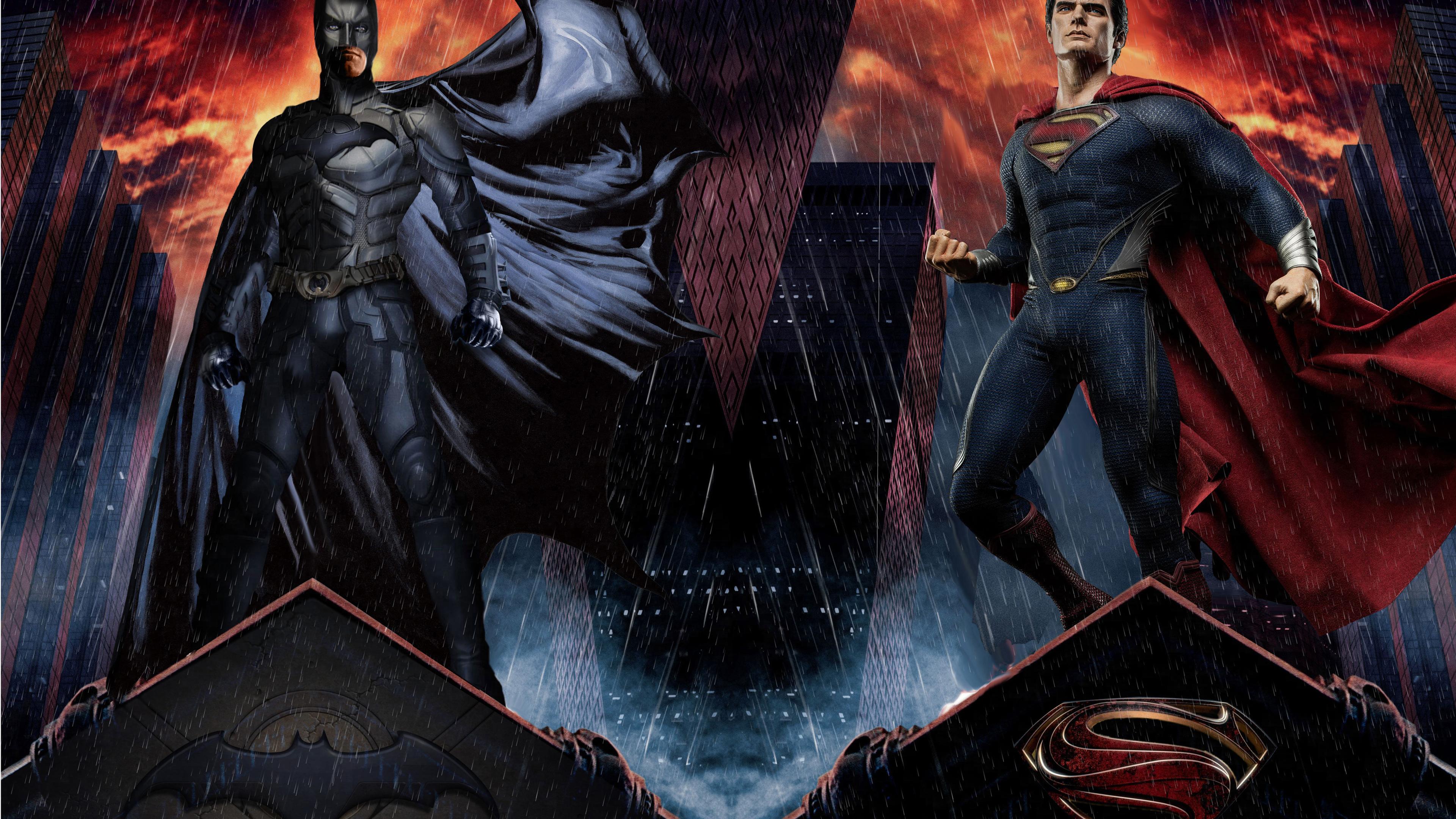 batman and man of steel 1539978596 - Batman And Man Of Steel - superman wallpapers, superheroes wallpapers, hd-wallpapers, digital art wallpapers, batman wallpapers, artwork wallpapers, 4k-wallpapers