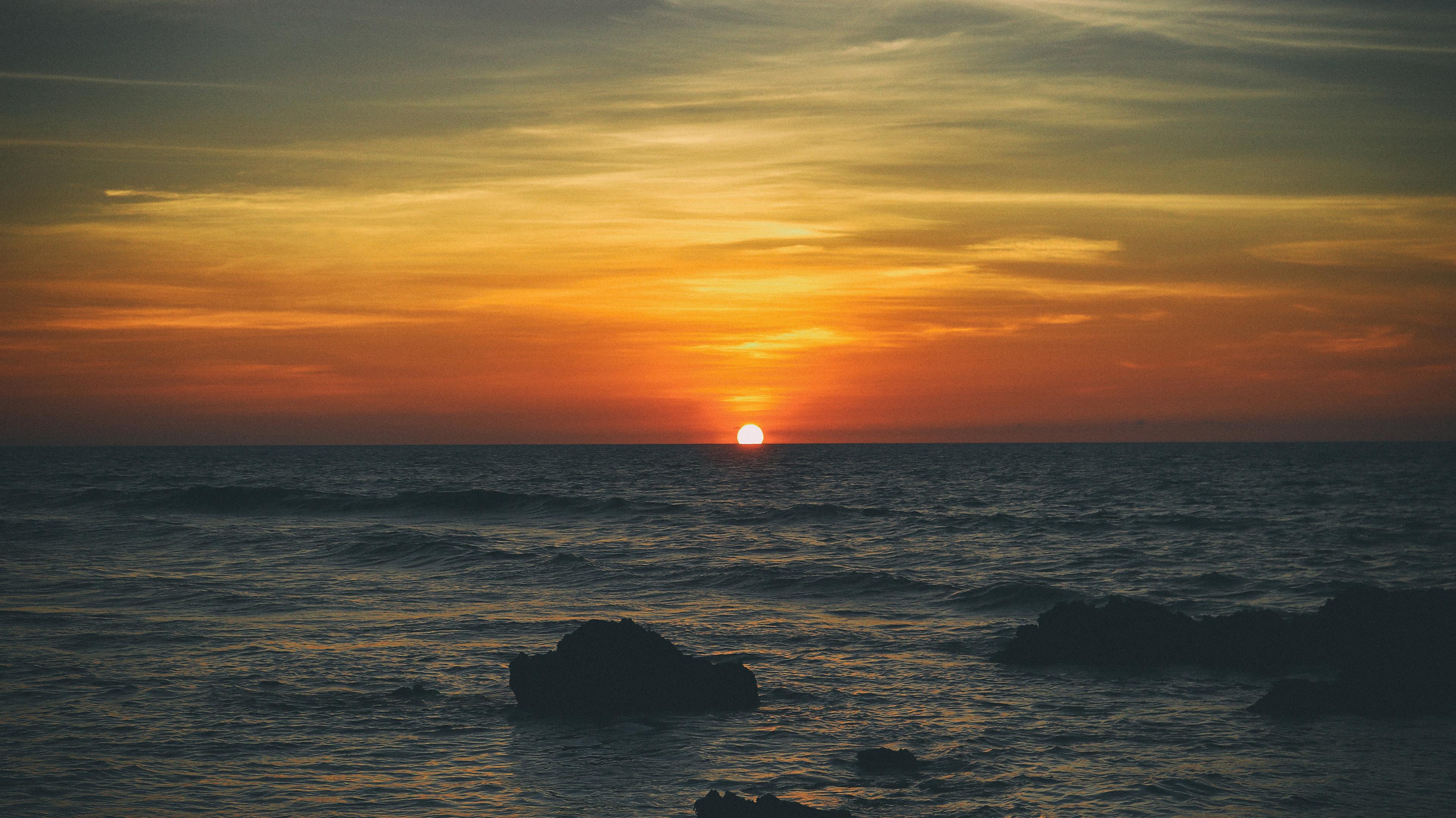 beach sunset sea sunrise 5k 1540136635 - Beach Sunset Sea Sunrise 5k - sunset wallpapers, sunrise wallpapers, sea wallpapers, nature wallpapers, hd-wallpapers, beach wallpapers, 5k wallpapers, 4k-wallpapers