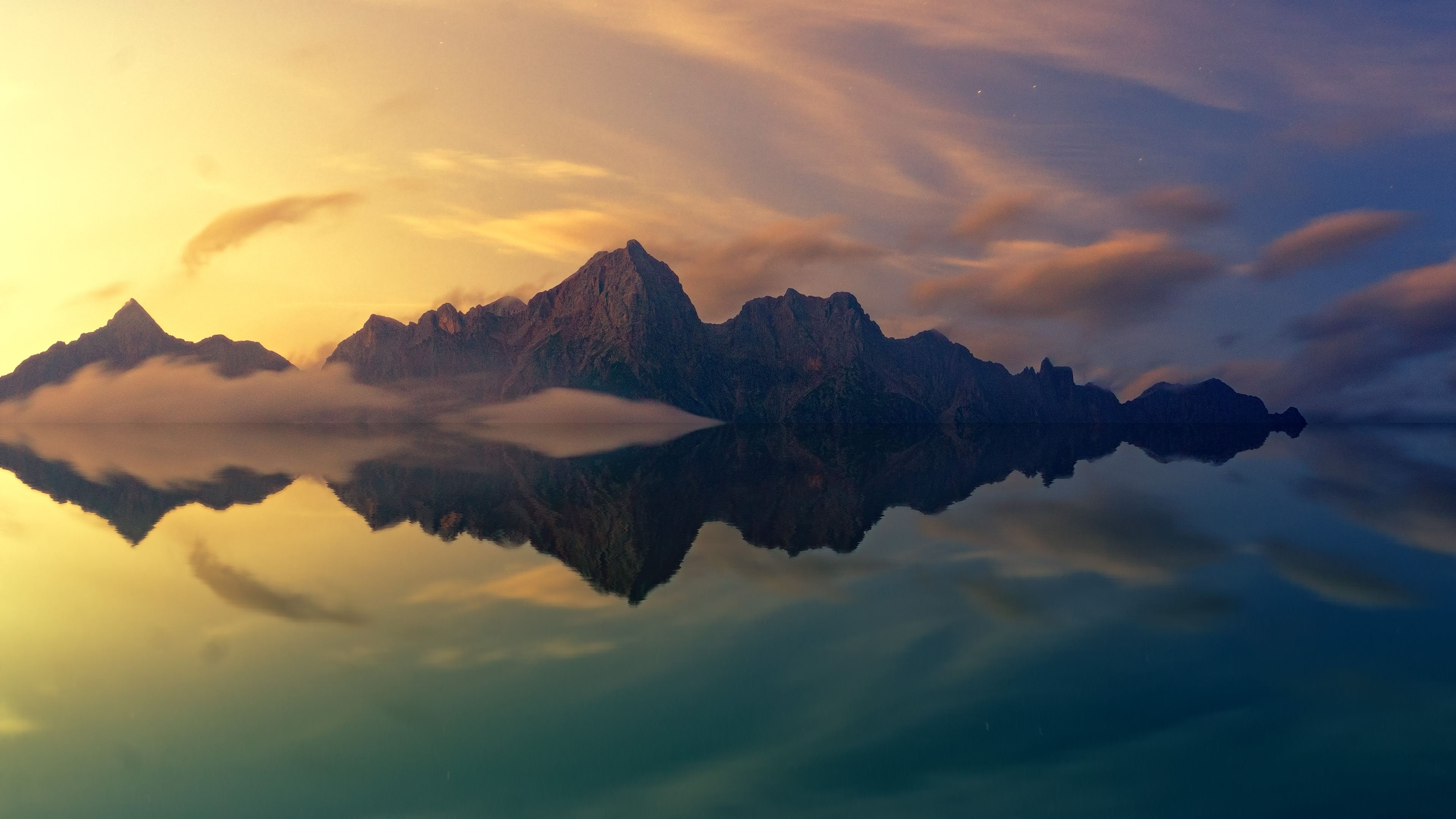 beautiful mountains clear reflection in water 4k 1540136522 - Beautiful Mountains Clear Reflection In Water 4k - water wallpapers, reflection wallpapers, nature wallpapers, mountains wallpapers, hd-wallpapers