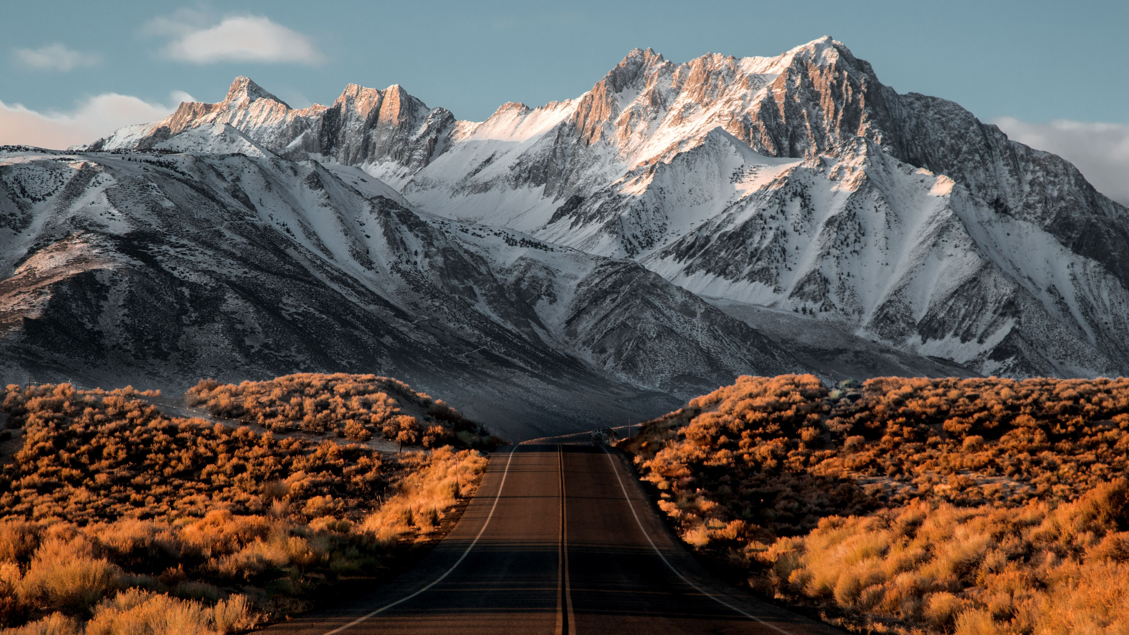 beautiful snowy mountains road 4k 1540140523 - Beautiful Snowy Mountains Road 4k - road wallpapers, photography wallpapers, nature wallpapers, mountains wallpapers, hd-wallpapers, 5k wallpapers, 4k-wallpapers