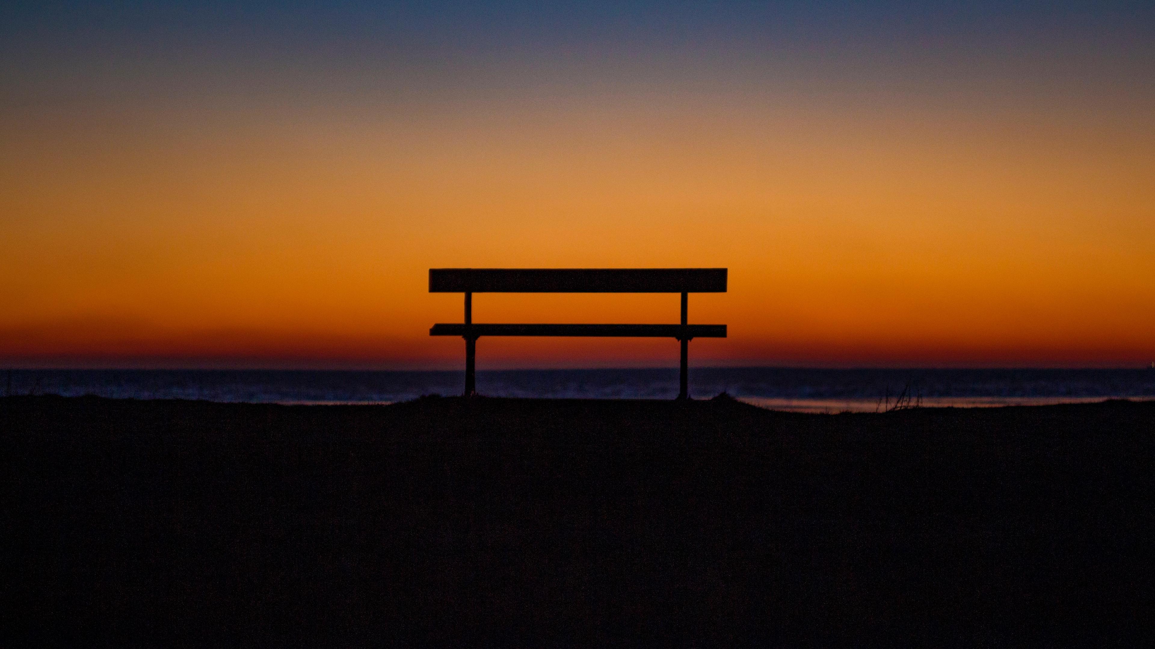 bench sky horizon 4k 1540575283 - bench, sky, horizon 4k - Sky, Horizon, Bench