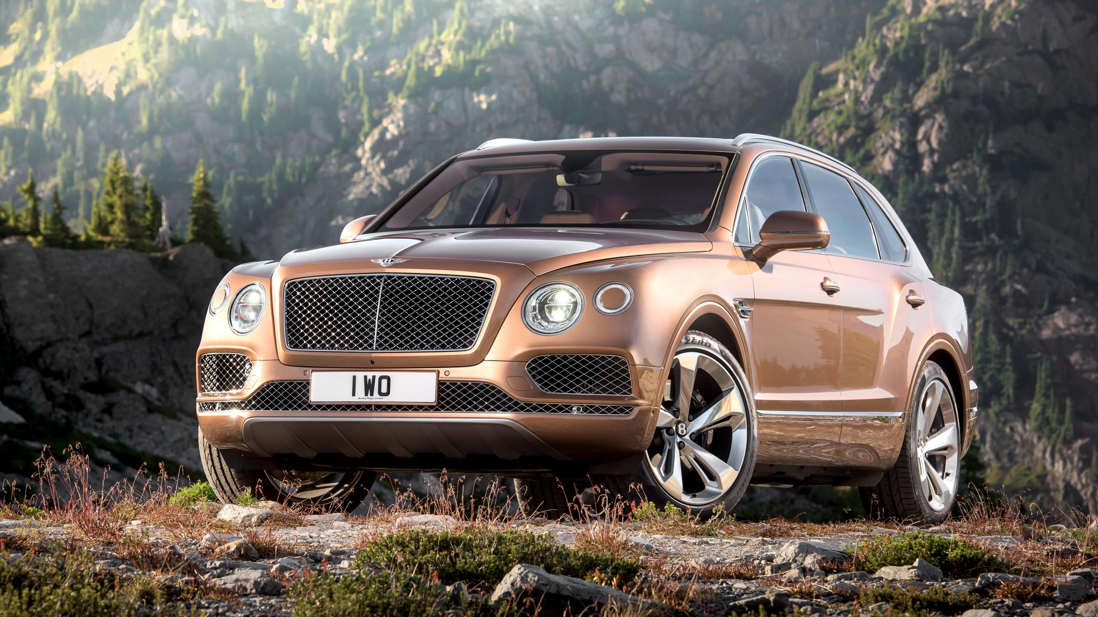 bentley bentayga brown side view 4k 1538934895 - bentley, bentayga, brown, side view 4k - Brown, Bentley, Bentayga