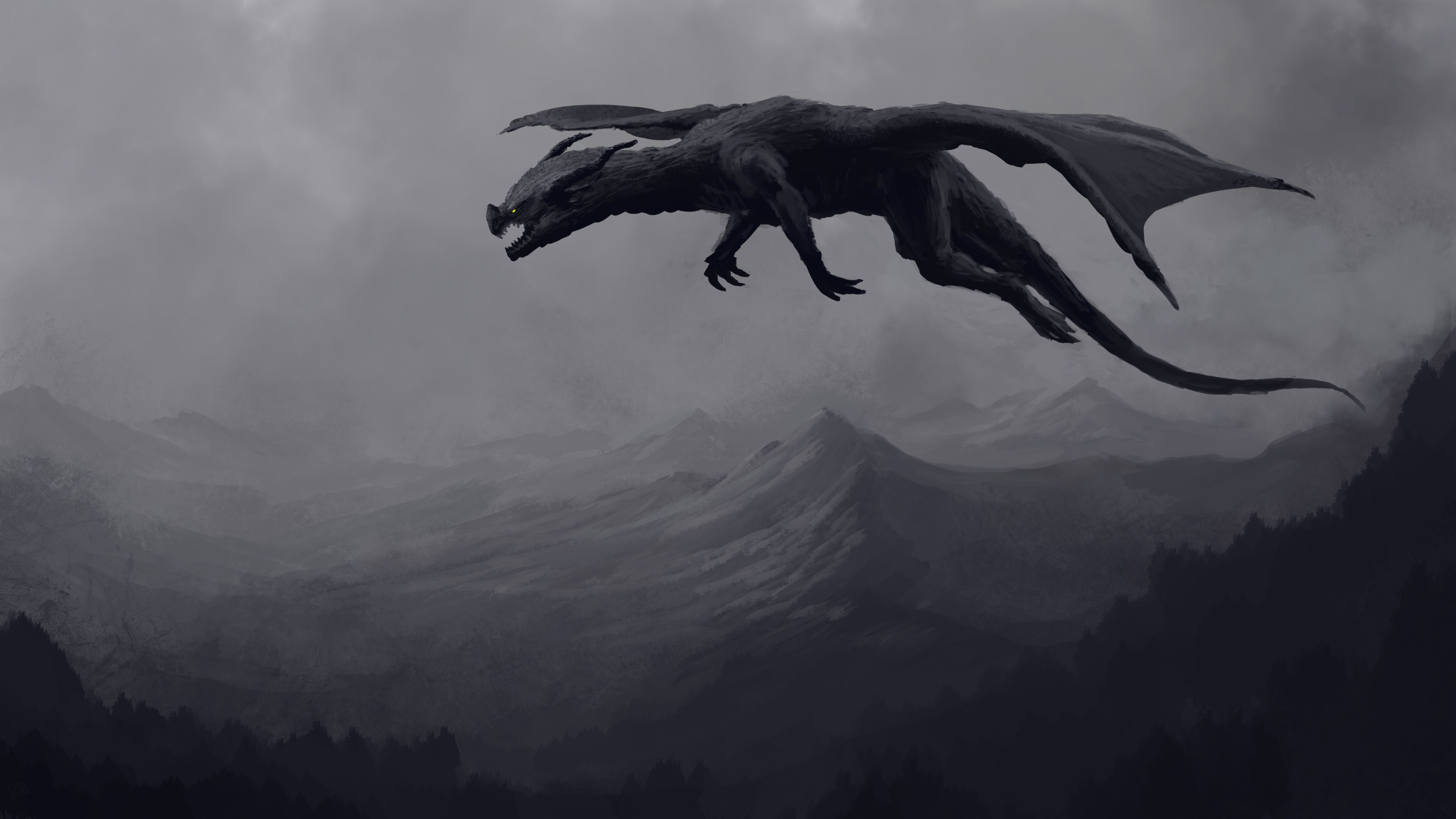 big giant black dragon 4k 1540754264 - Big Giant Black Dragon 4k - hd-wallpapers, dragon wallpapers, digital art wallpapers, dark wallpapers, artwork wallpapers, artist wallpapers, 4k-wallpapers