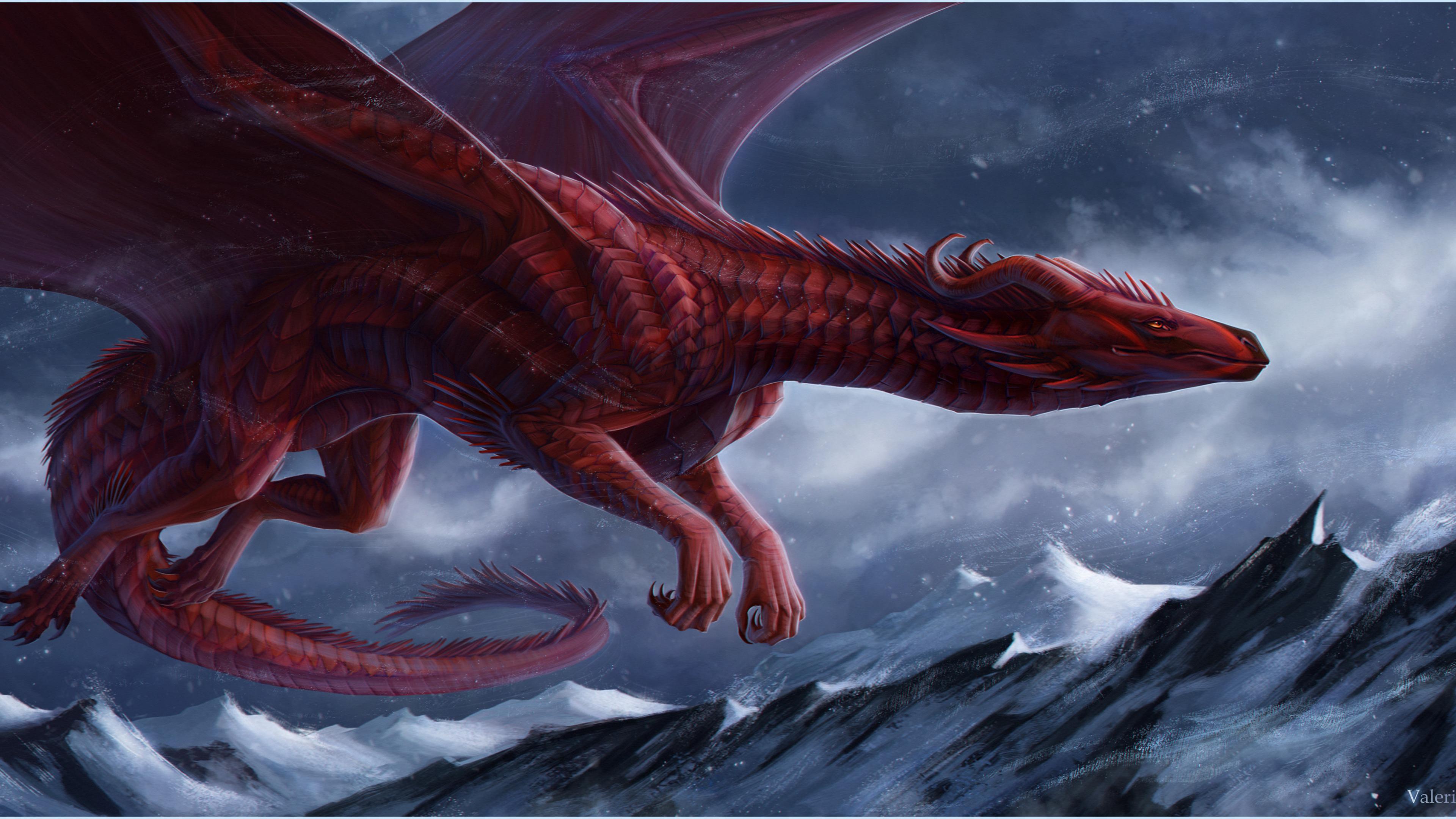 big red dragon 4k 1540751483 - Big Red Dragon 4k - hd-wallpapers, dragon wallpapers, digital art wallpapers, deviantart wallpapers, artwork wallpapers, artist wallpapers, 4k-wallpapers