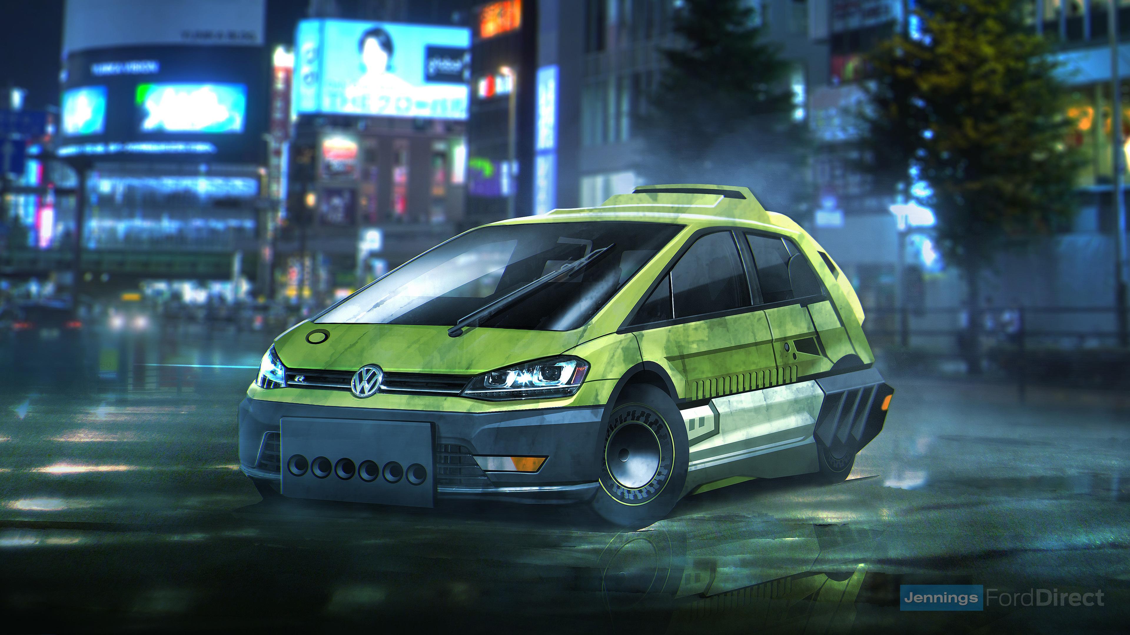 Wallpaper 4k Blade Runner Volkswagen Golf Hatchback 2017 Movies