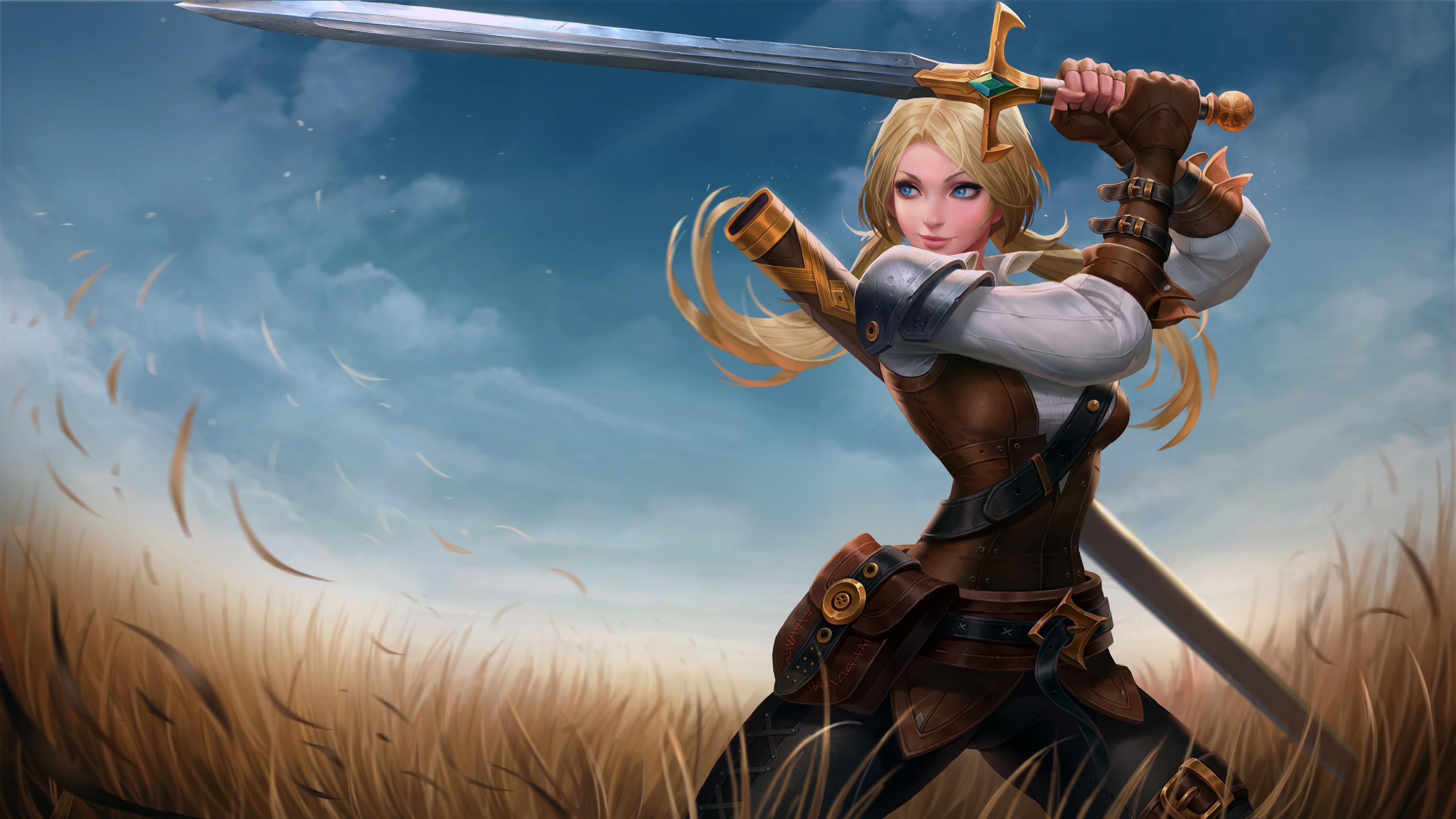 blue eyes girl sword woman warrior 4k 1540751640 - Blue Eyes Girl Sword Woman Warrior 4k - warrior wallpapers, sword wallpapers, hd-wallpapers, digital art wallpapers, artwork wallpapers, artist wallpapers, 5k wallpapers, 4k-wallpapers