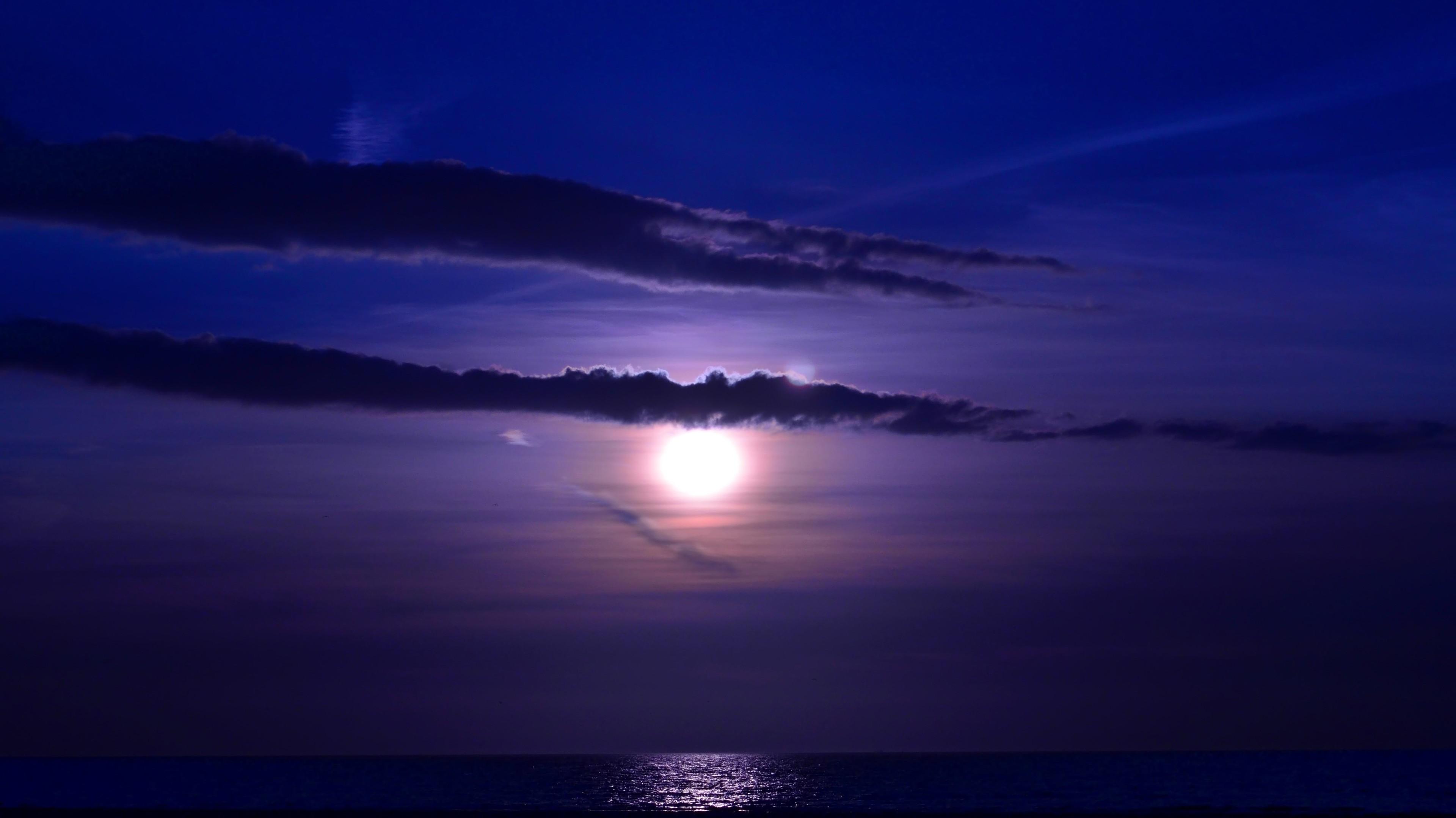 blue sea sky sunset evening 4k 1540135879 - Blue Sea Sky Sunset Evening 4k - sunset wallpapers, sky wallpapers, nature wallpapers, hd-wallpapers, evening wallpapers, 5k wallpapers, 4k-wallpapers