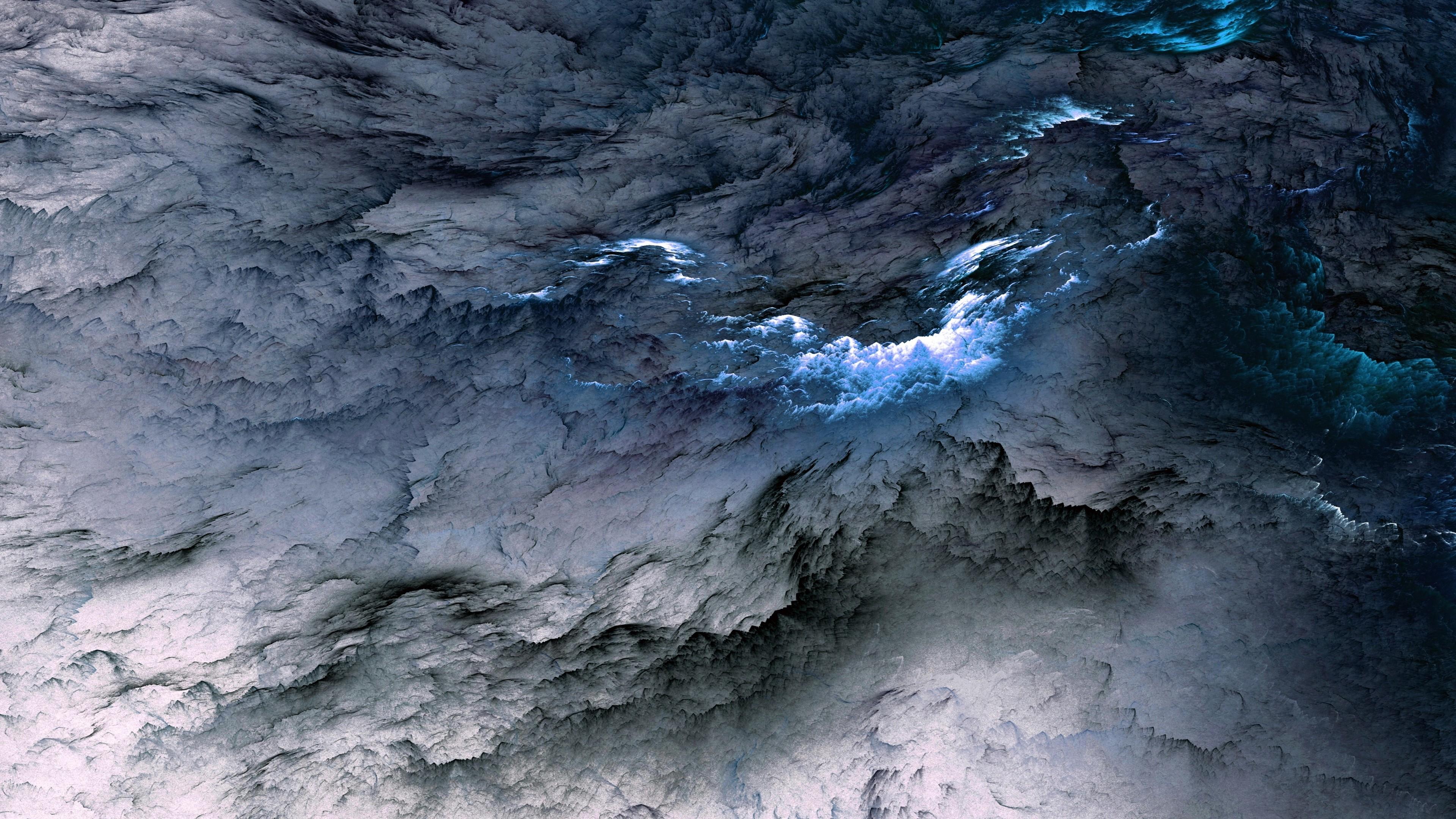 blue white clouds 4k 1540748643 - Blue White Clouds 4k - digital art wallpapers, clouds wallpapers, artist wallpapers