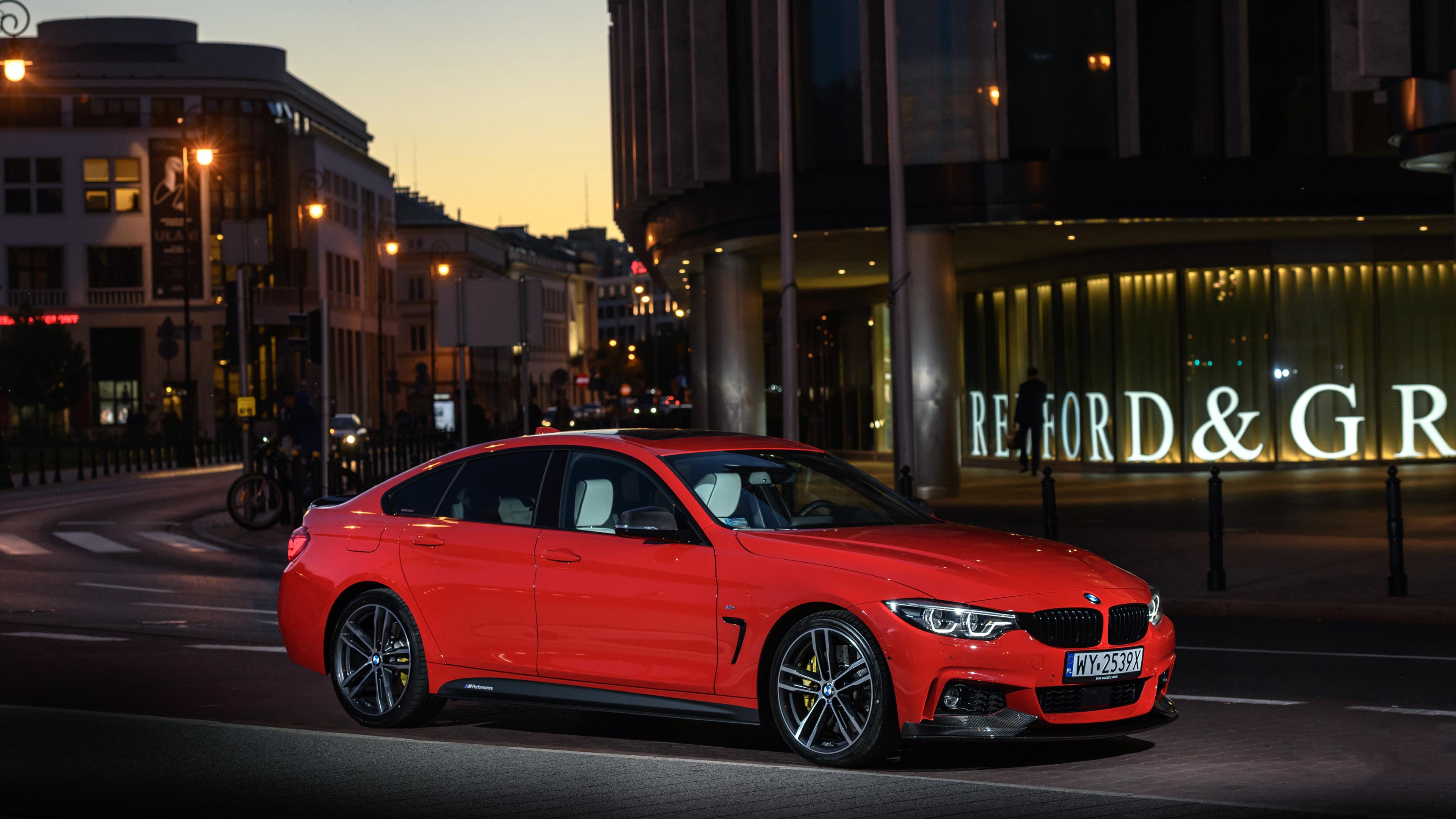 Wallpaper 4k BMW 430i Gran Coupe M Performance Parts 2018