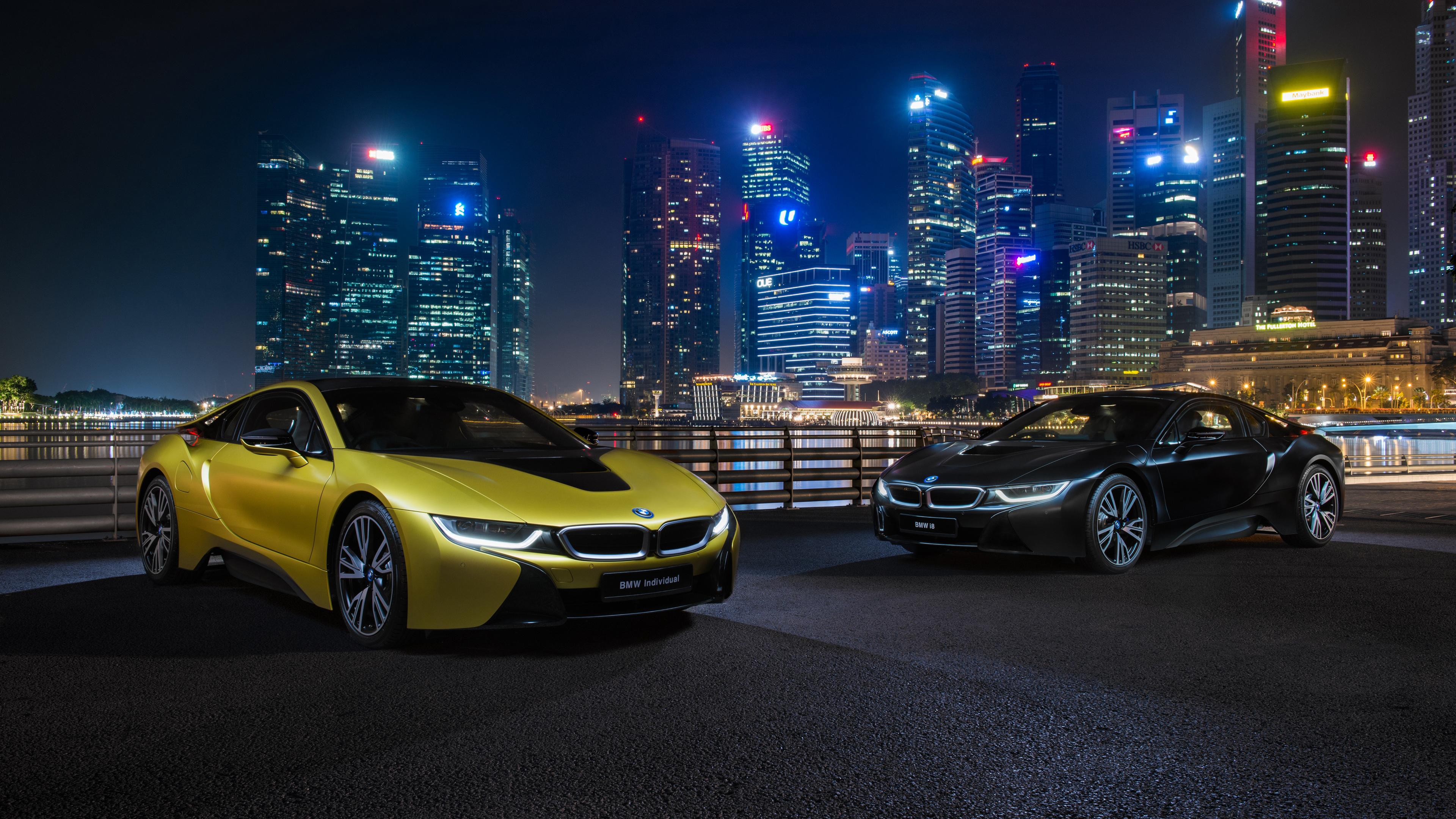 bmw i8 frozen yellow edition 1539109421 - BMW I8 Frozen Yellow Edition - hd-wallpapers, cars wallpapers, bmw wallpapers, bmw i8 wallpapers, 4k-wallpapers, 2018 cars wallpapers