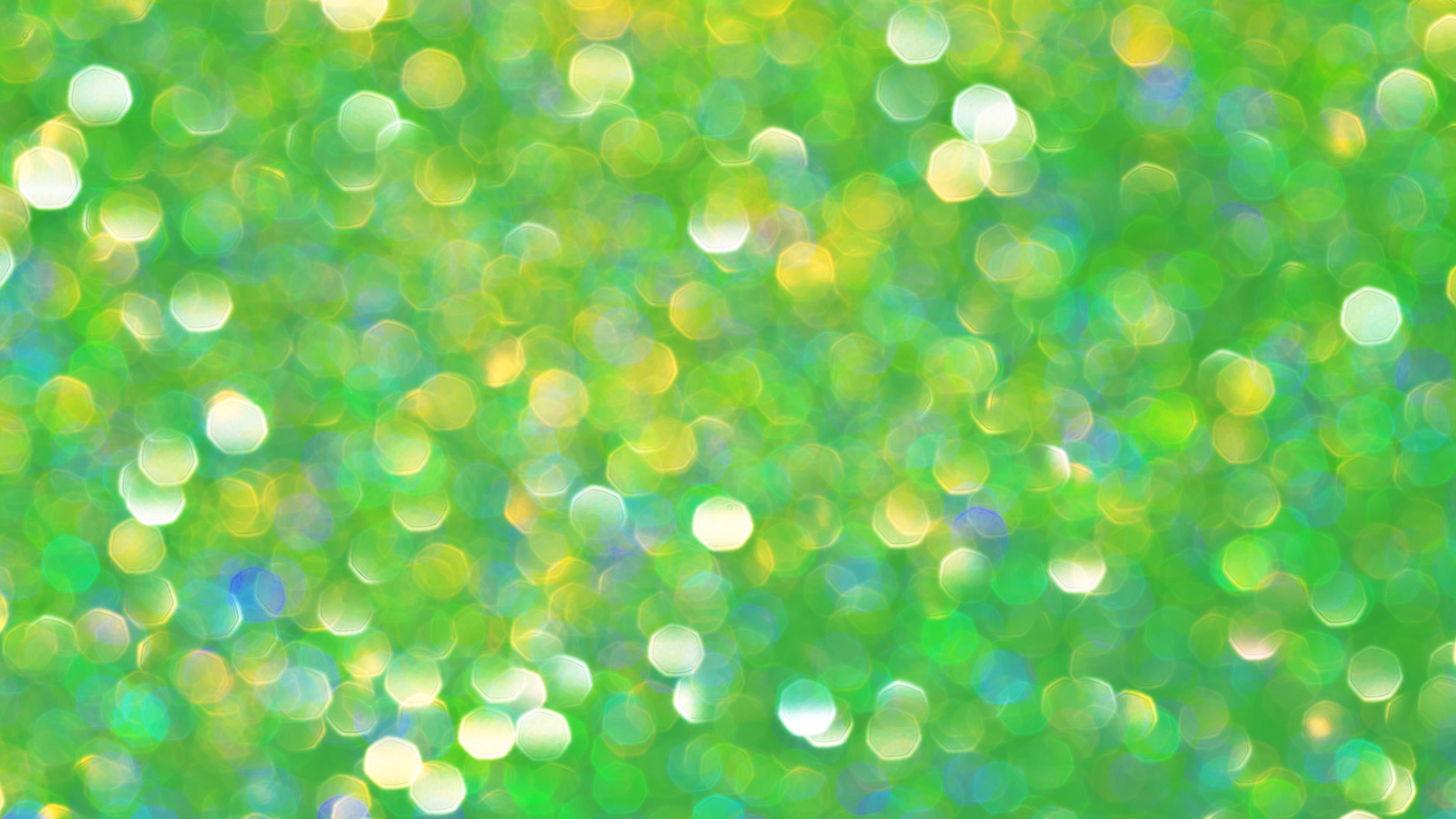 bokeh glare glitter circles green 4k 1539369880 - bokeh, glare, glitter, circles, green 4k - Glitter, glare, Bokeh