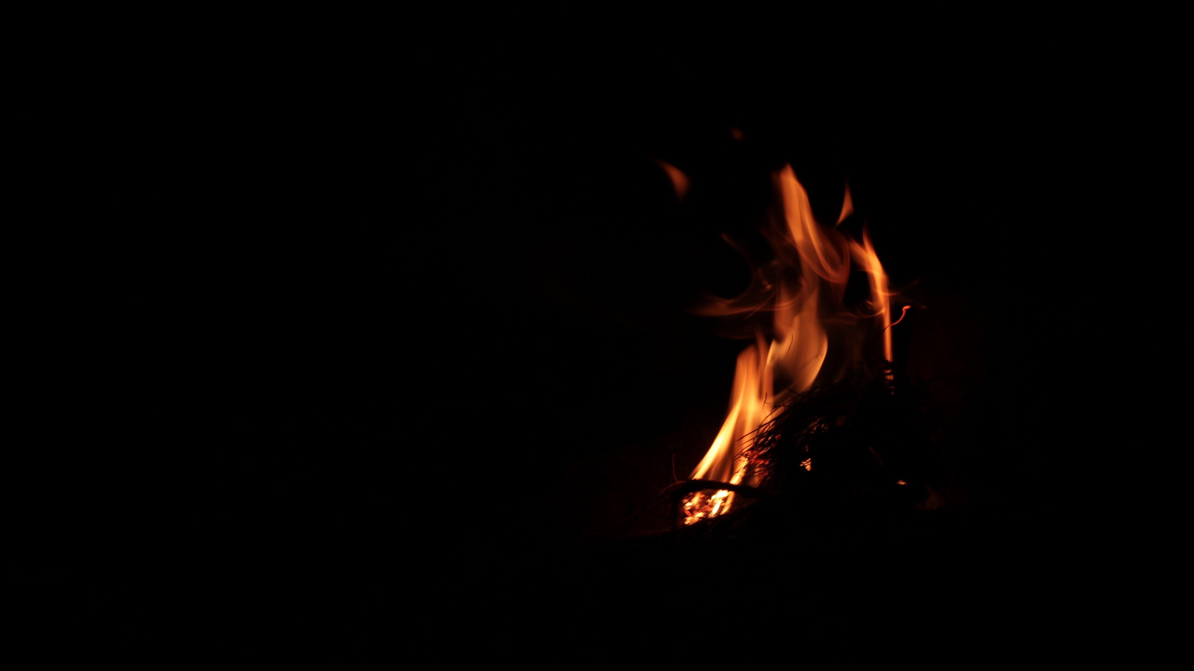 bonfire fire dark flame 4k 1540575167 - bonfire, fire, dark, flame 4k - Fire, Dark, bonfire