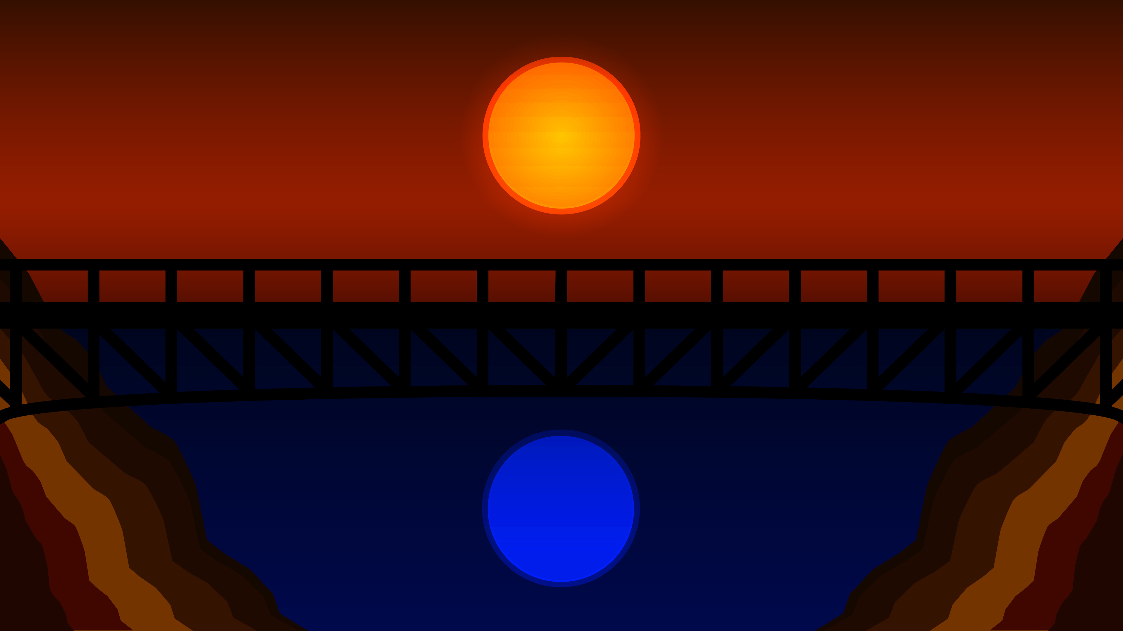bridge minimalistic 4k 1540755529 - Bridge Minimalistic 4k - minimalism wallpapers, hd-wallpapers, digital art wallpapers, bridge wallpapers, artwork wallpapers, artist wallpapers, 4k-wallpapers